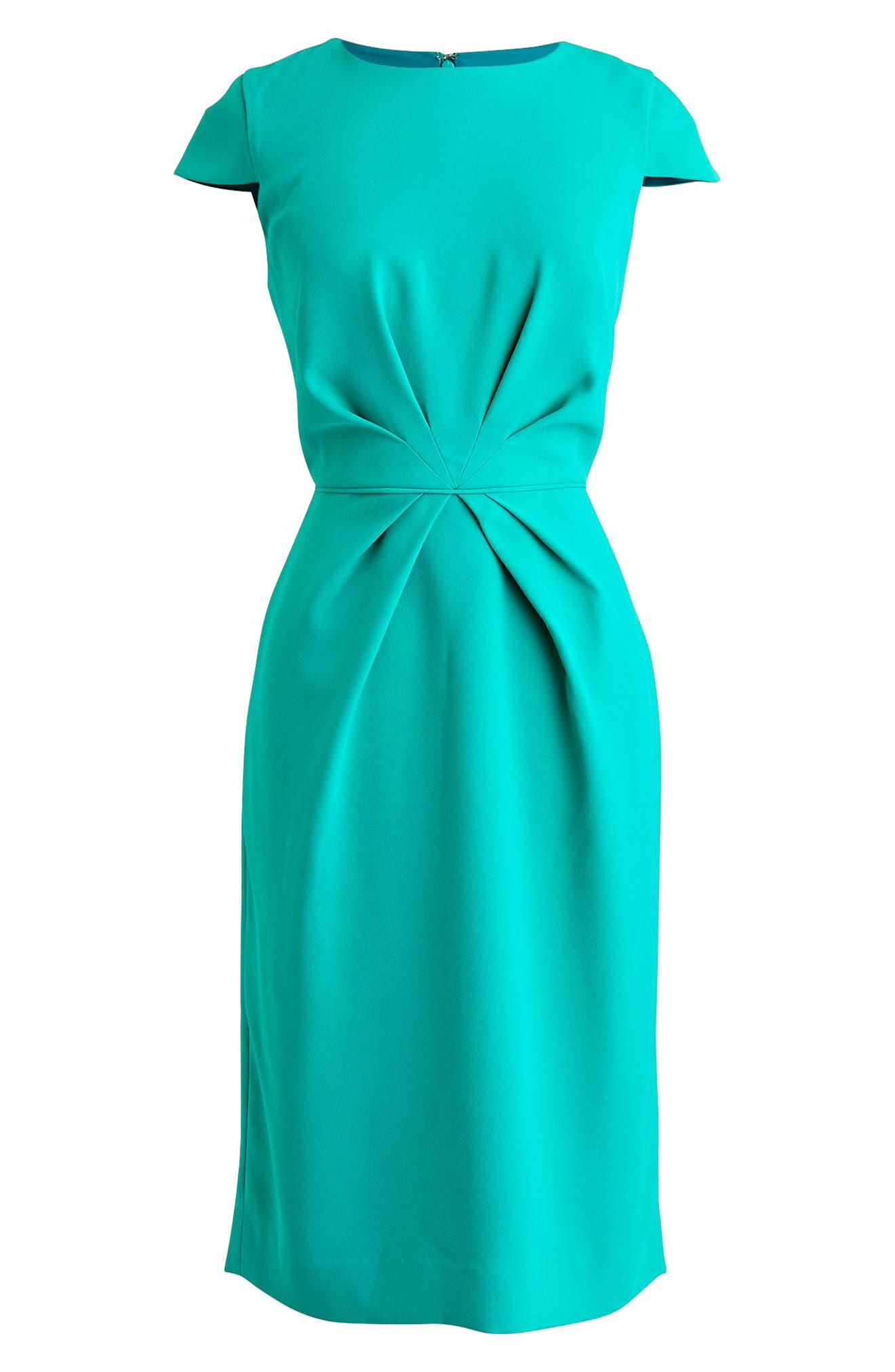 J.Crew Luz Tie Front Crepe Dress,                             Alternate thumbnail 4, color,                             Tropical Marine