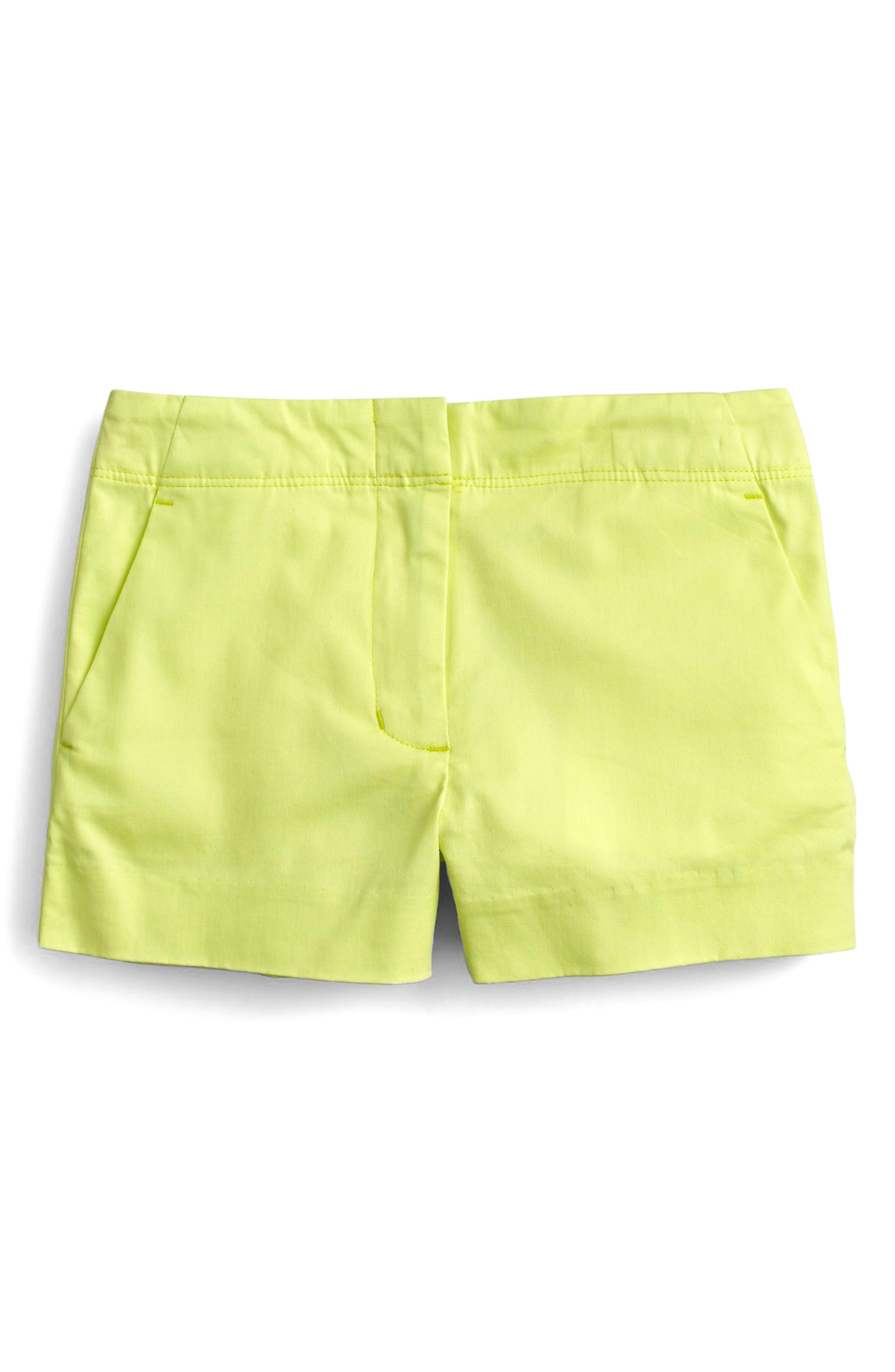 crewcuts by J.Crew Frankie Stretch Cotton Shorts (Toddler Girls, Little Girls & Big Girls)