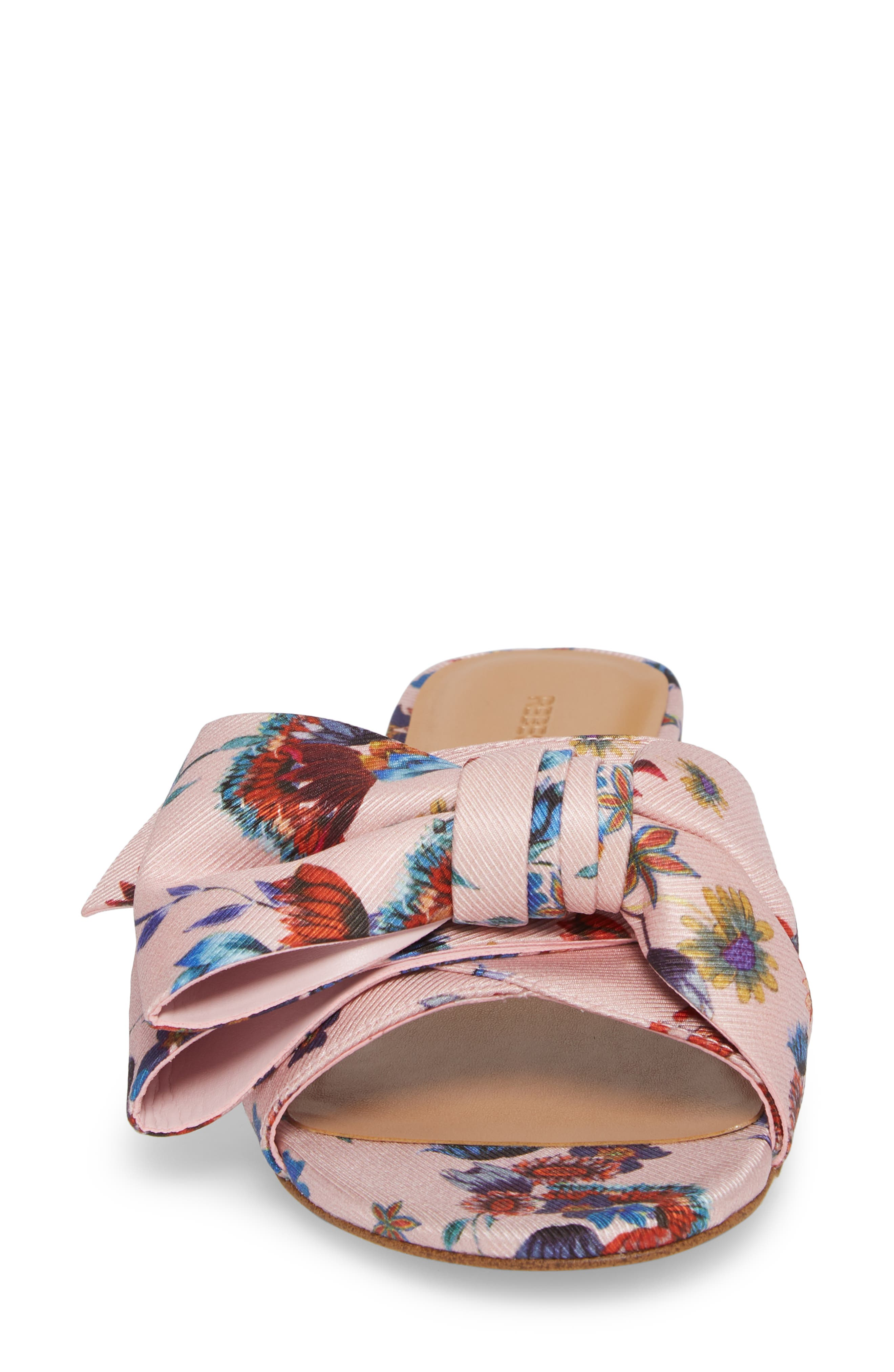 Calista Slide Sandal,                             Alternate thumbnail 4, color,                             Millennial Pink Multi Fabric