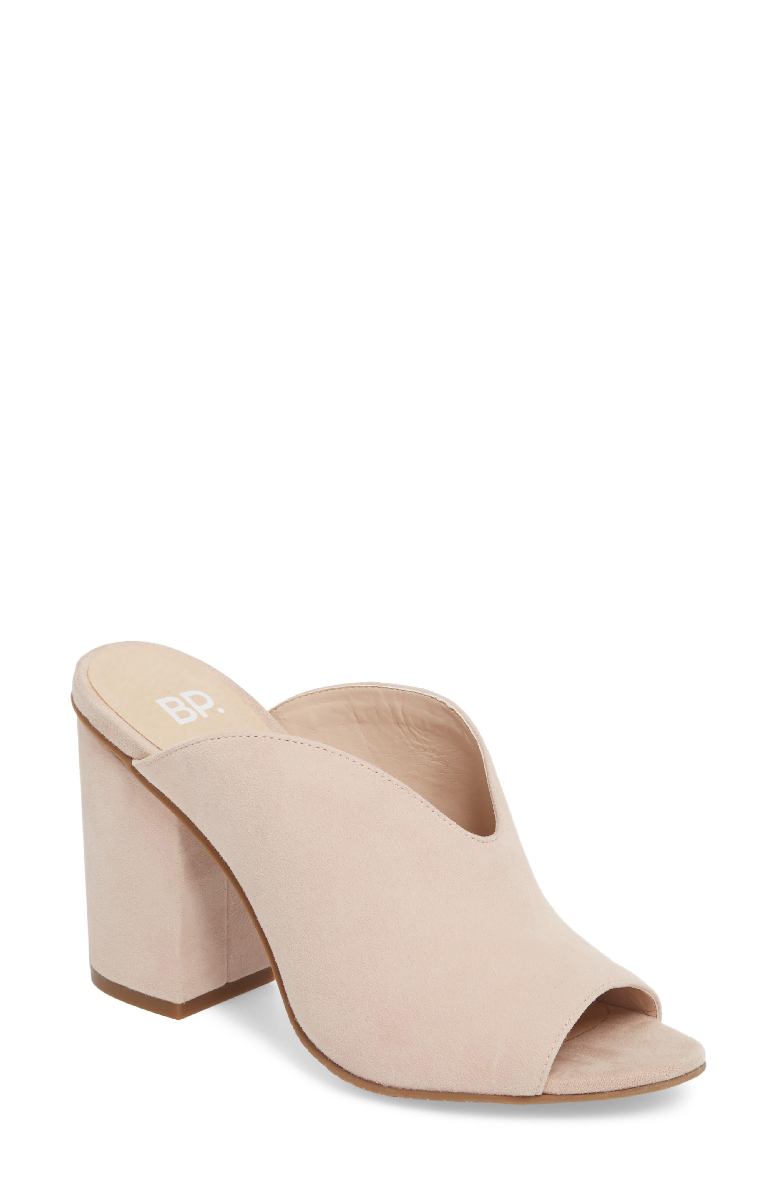 Tonya Open Toe Mule,                         Main,                         color, Blush Suede