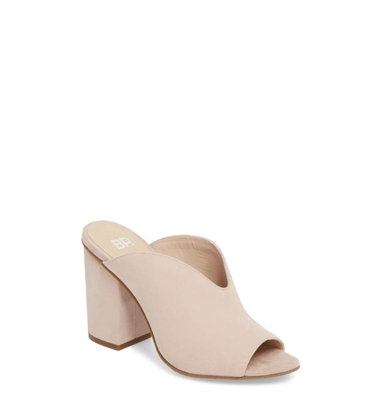 Tonya Open Toe Mule,                         Main,                         color, Blush Suede