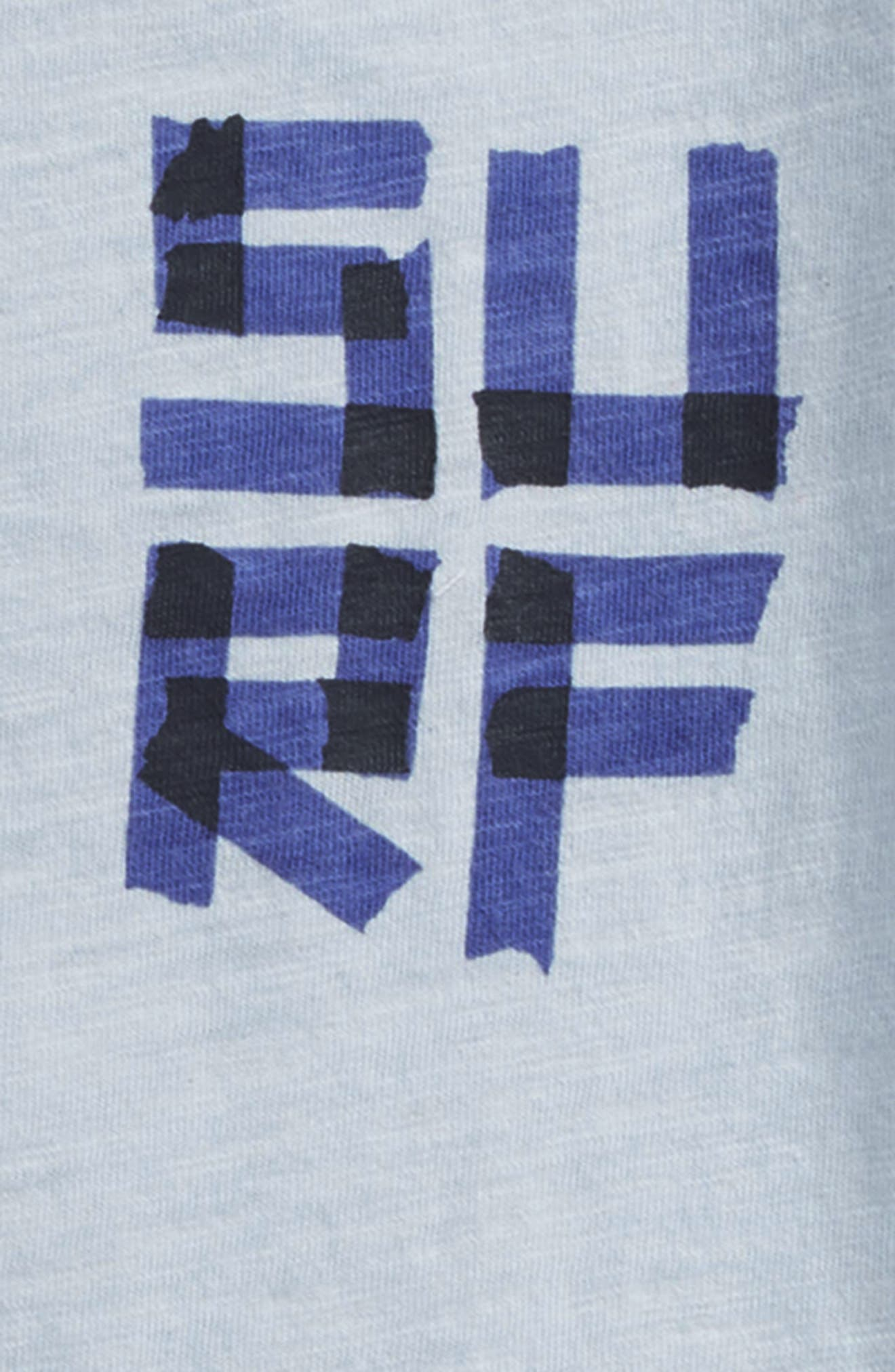 Surf Graphic T-Shirt,                             Alternate thumbnail 3, color,                             Sky