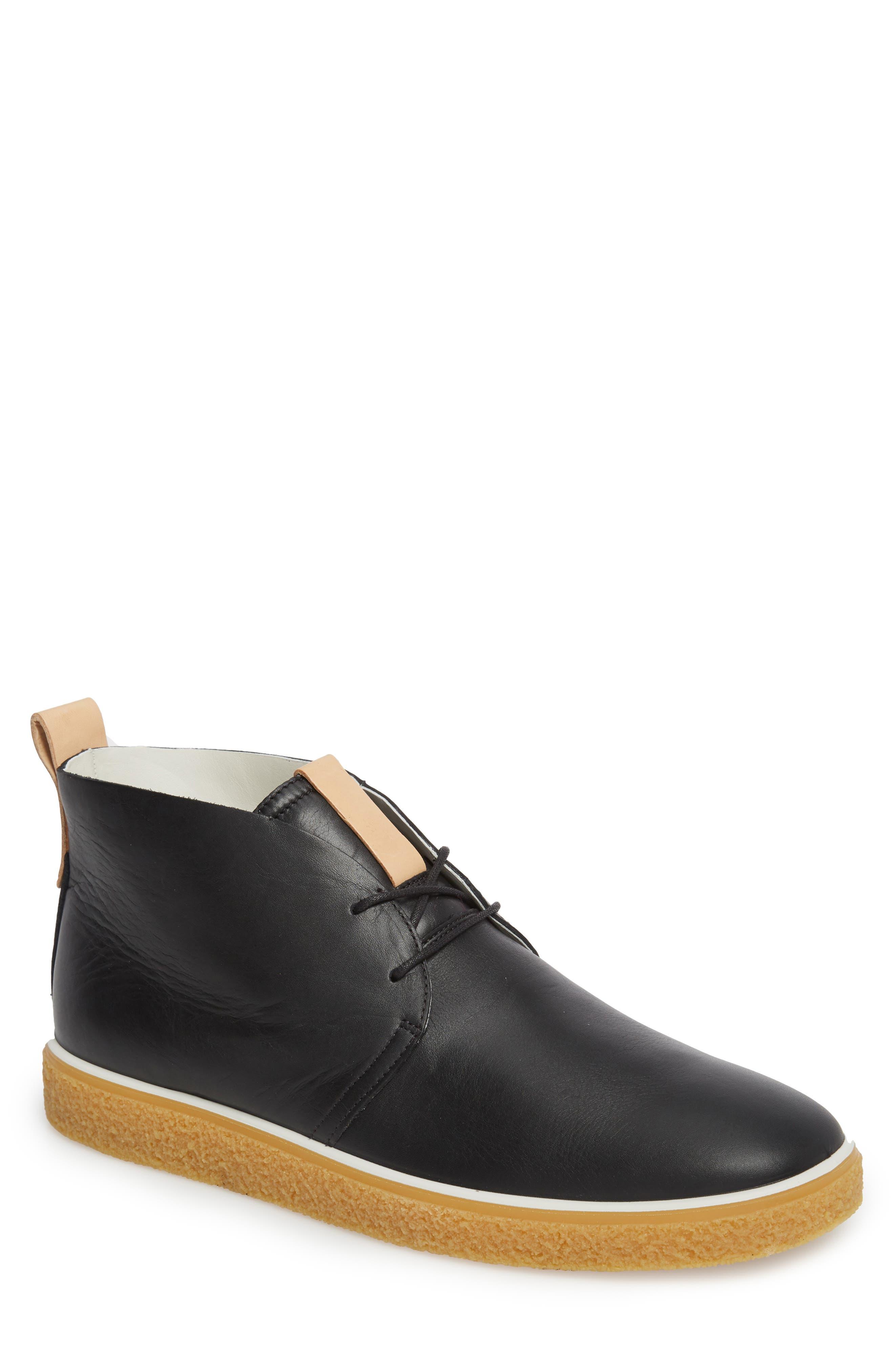 Crepetray Chukka Boot,                         Main,                         color, Black Leather
