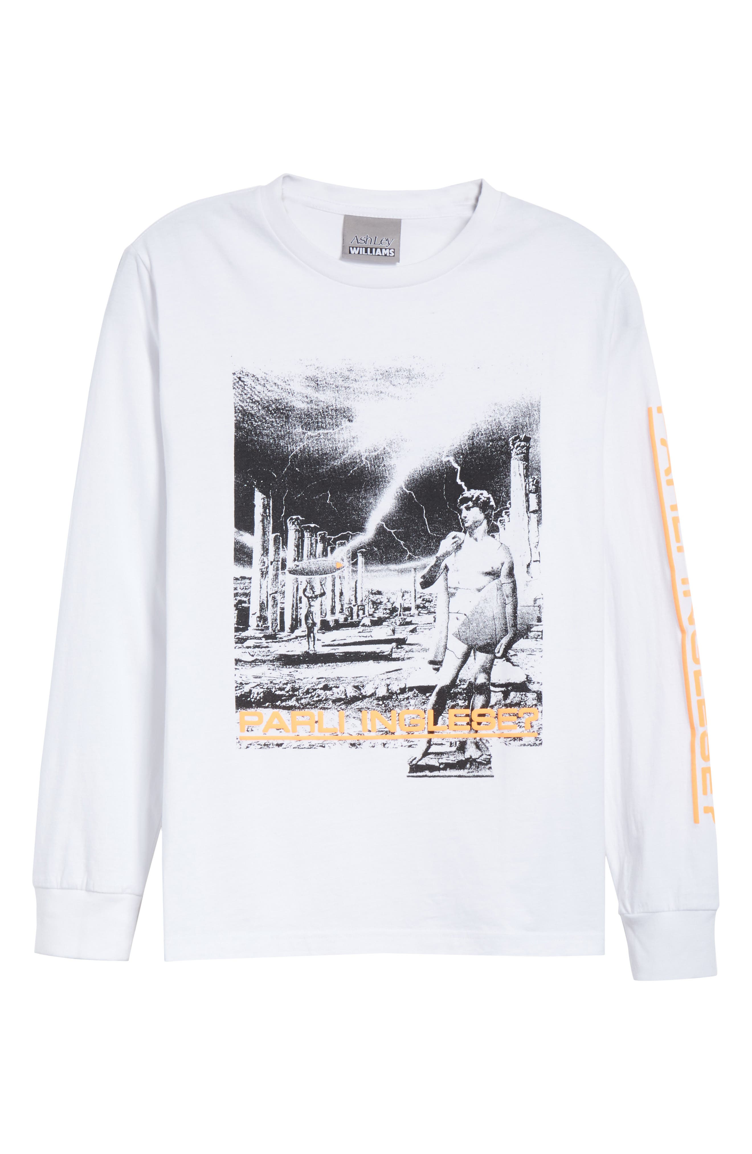 Dave Graphic Tee,                             Alternate thumbnail 6, color,                             White