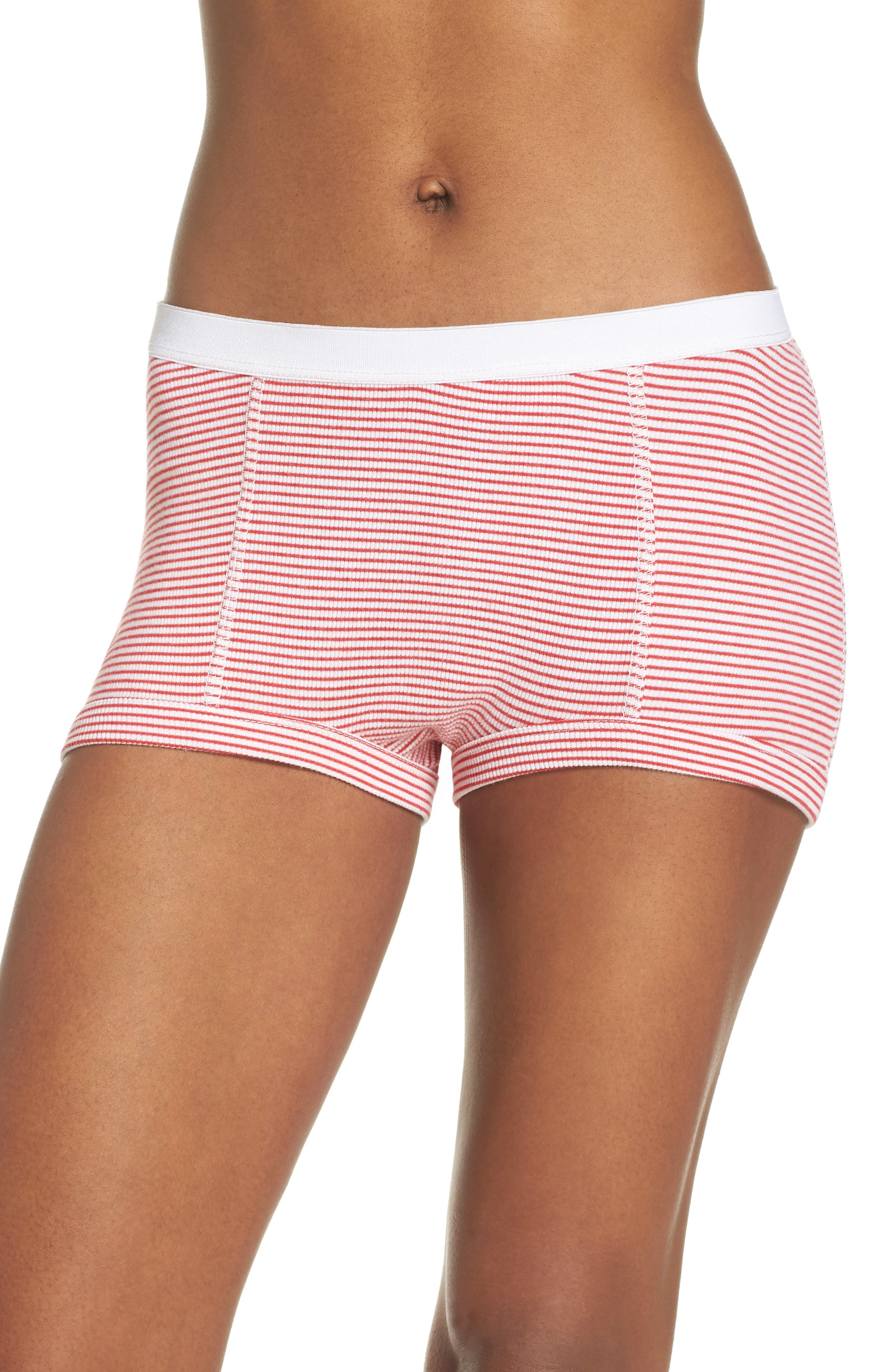Peony Shorts,                             Main thumbnail 1, color,                             Red Stripe