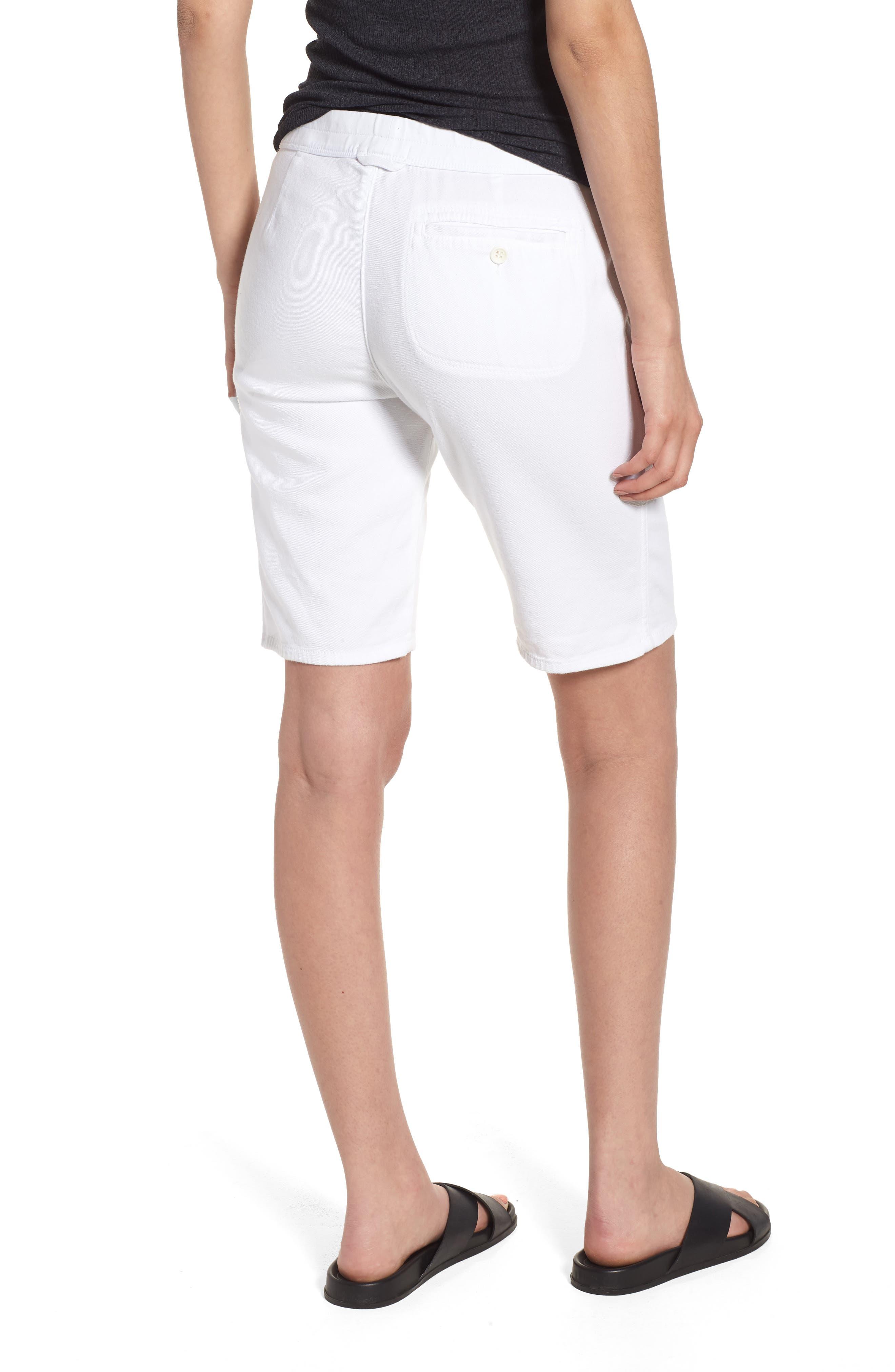 Soft Drape Utility Shorts,                             Alternate thumbnail 2, color,                             White