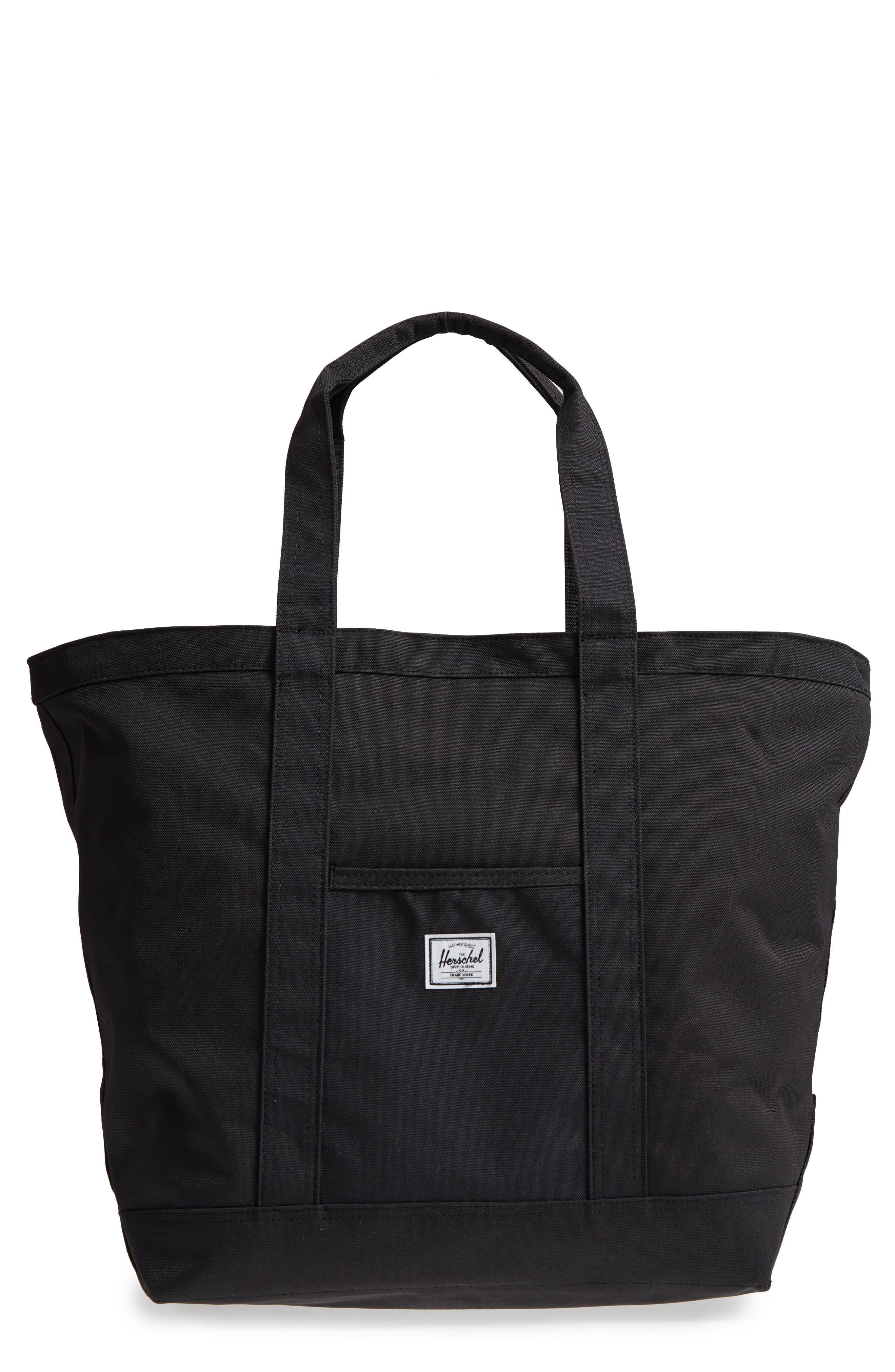 Bamfield Mid-Volume Tote Bag,                         Main,                         color, Jet Black