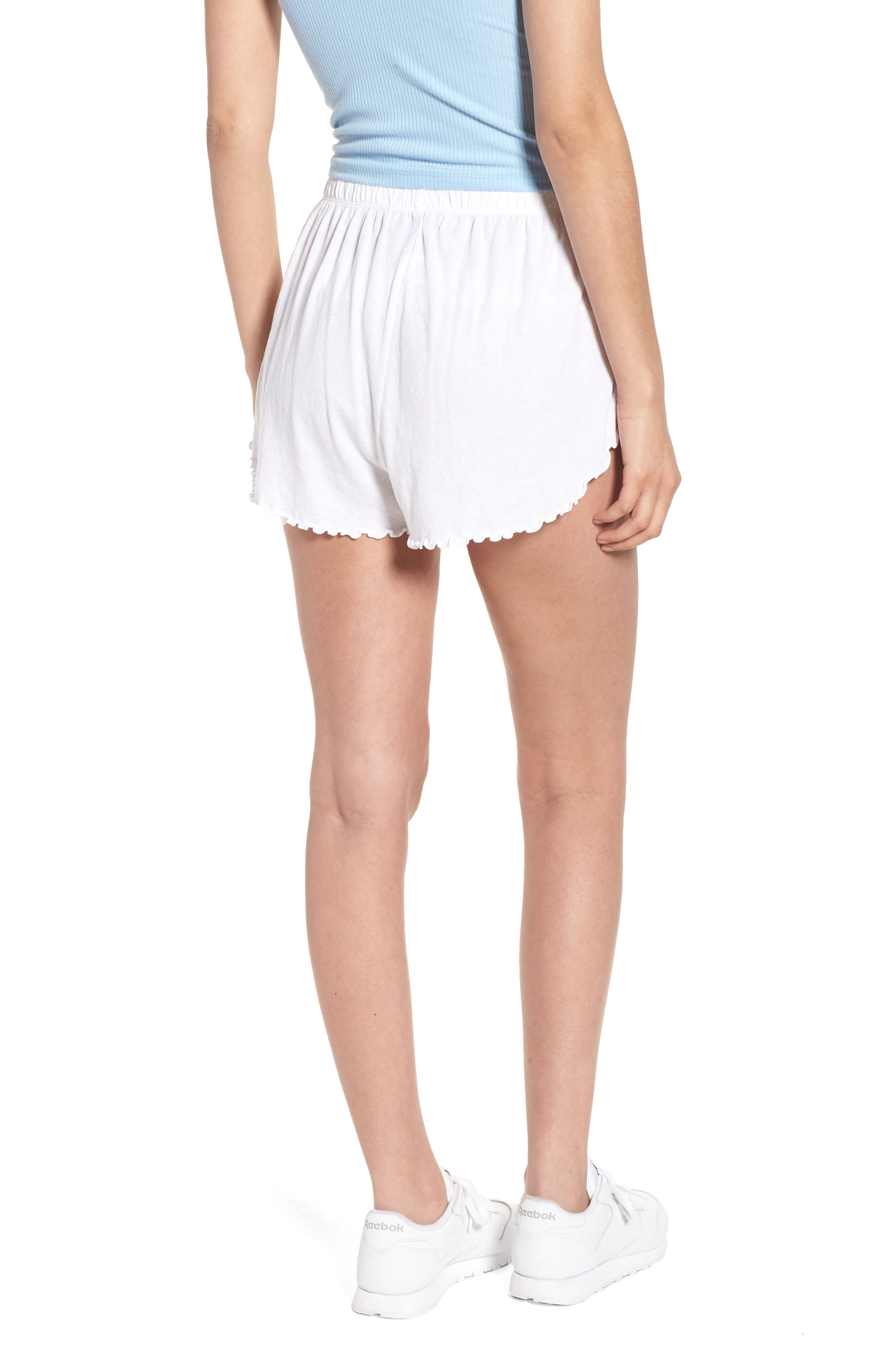 Wife Shorts,                             Alternate thumbnail 2, color,                             Clean White