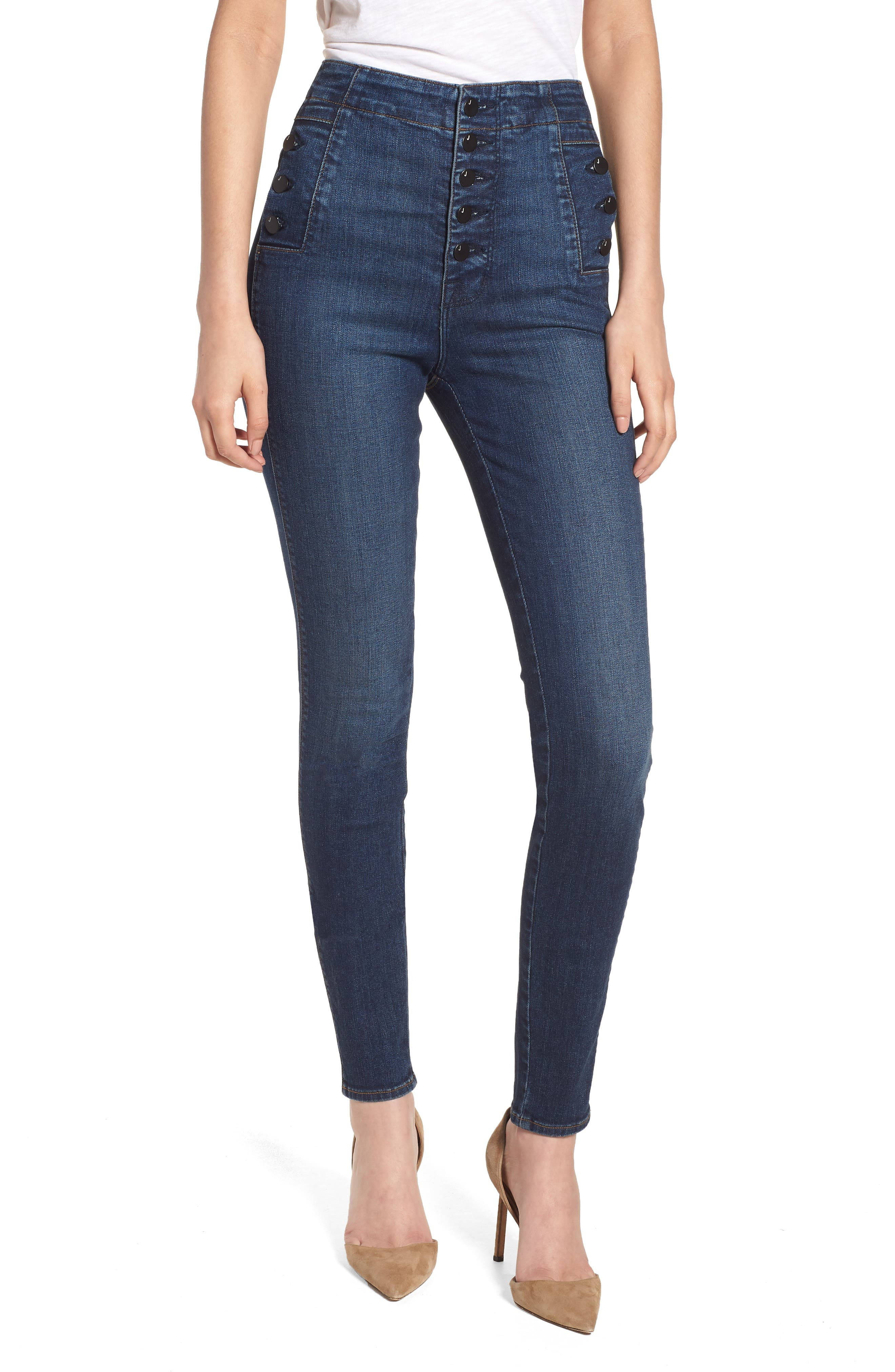 Natasha Sky High High Waist Skinny Jeans,                         Main,                         color, Revival