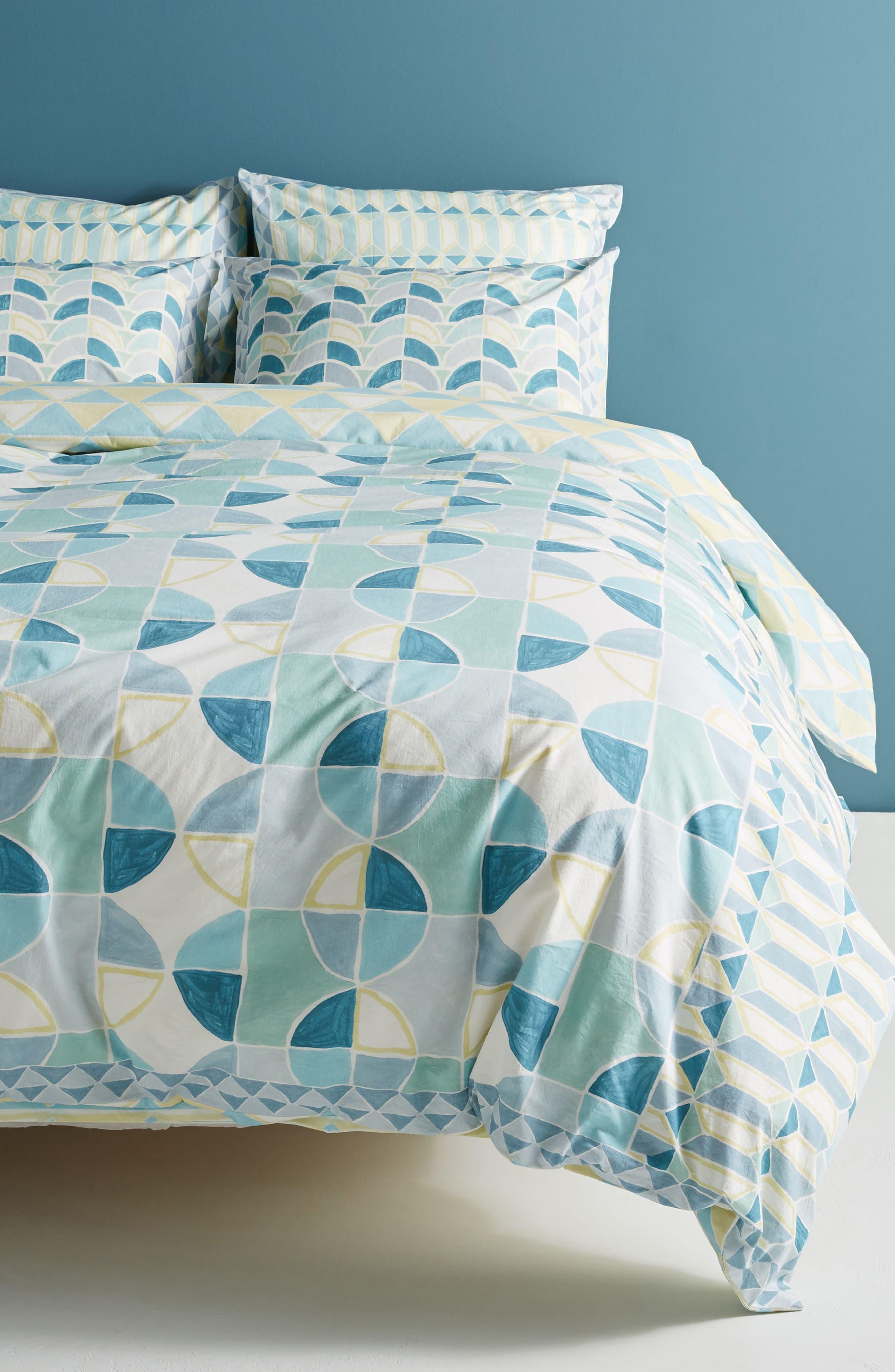 Rayne Duvet Cover,                         Main,                         color, Blue Combo