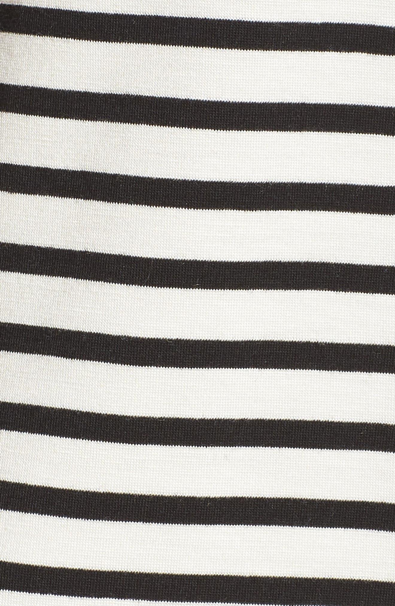 Monaco Short Pajamas,                             Alternate thumbnail 5, color,                             Pearl Stripe
