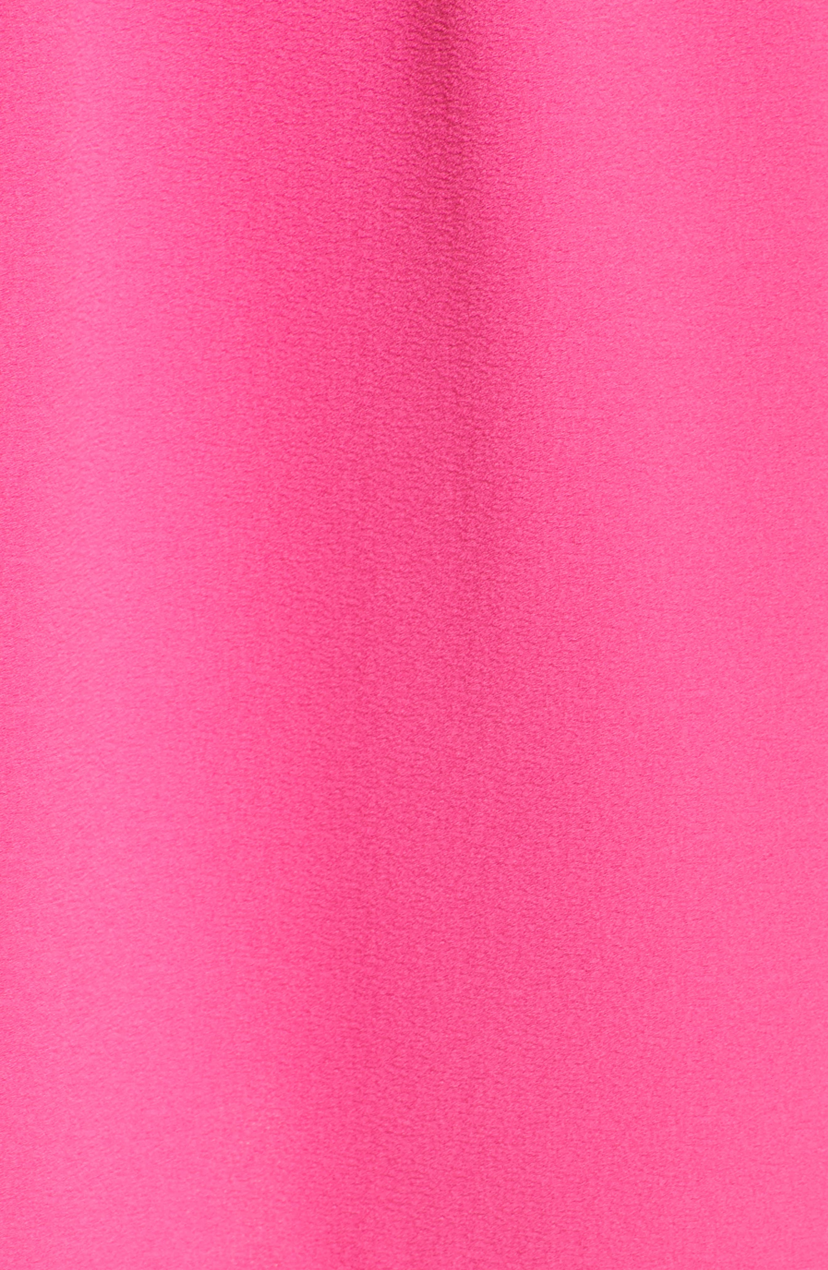Tie Front Sheath Dress,                             Alternate thumbnail 6, color,                             Hot Pink