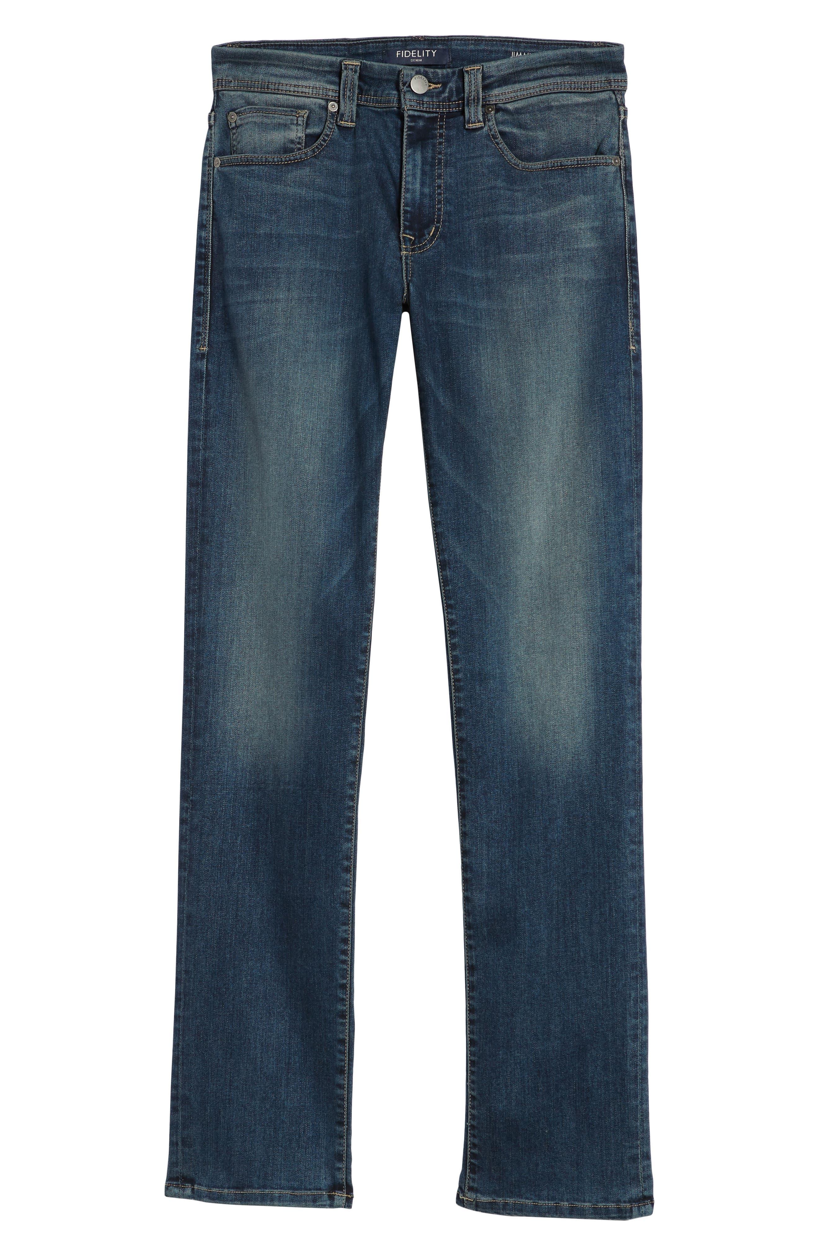 Jimmy Slim Straight Leg Jeans,                             Alternate thumbnail 6, color,                             Satori Blue