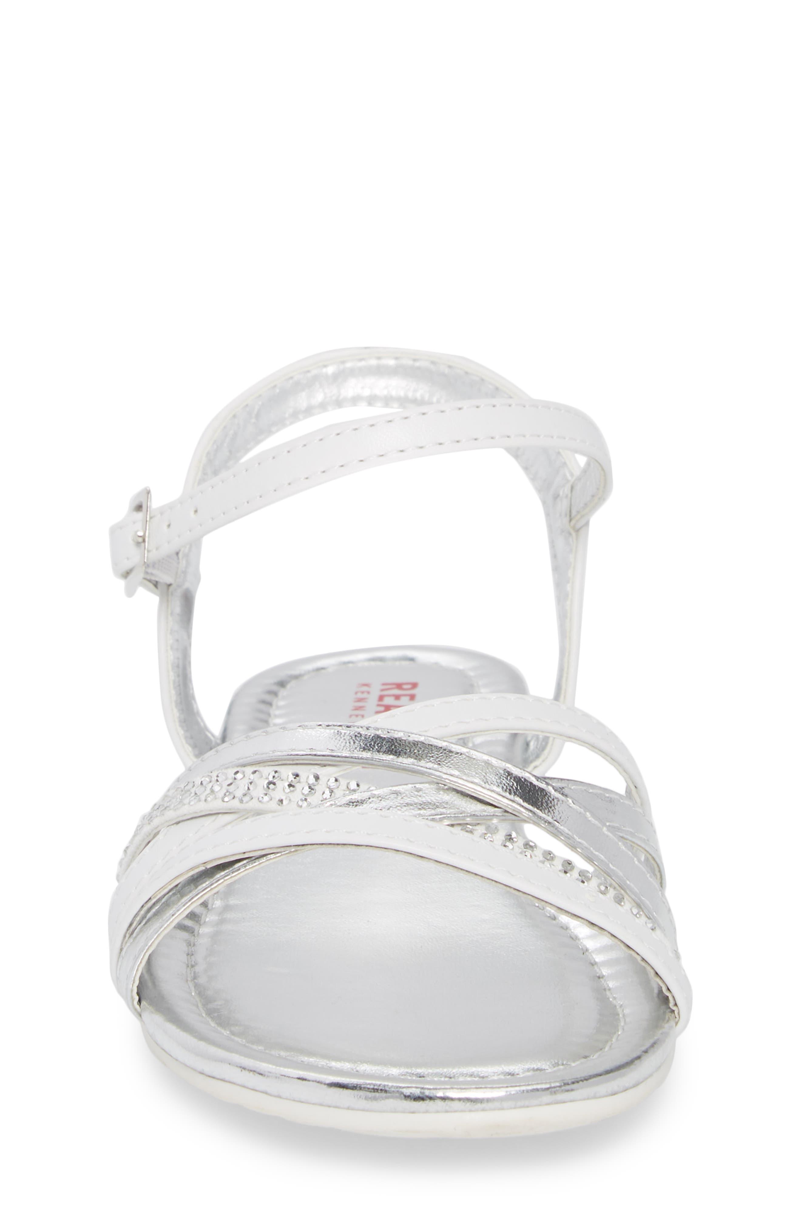 Kiera Getty Crystal Sandal,                             Alternate thumbnail 4, color,                             White