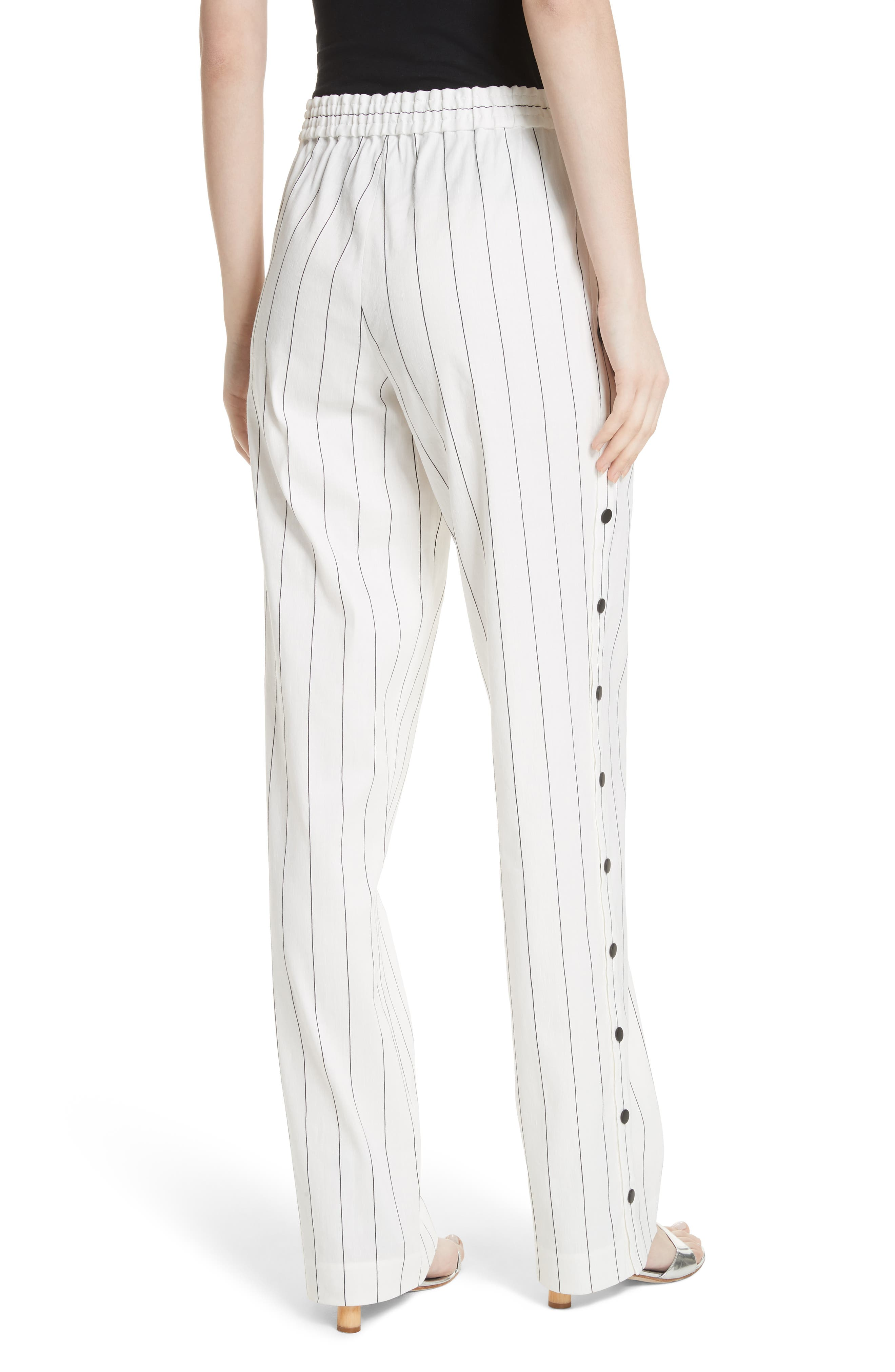 Snap Side Stripe Pants,                             Alternate thumbnail 2, color,                             Ivory Multi