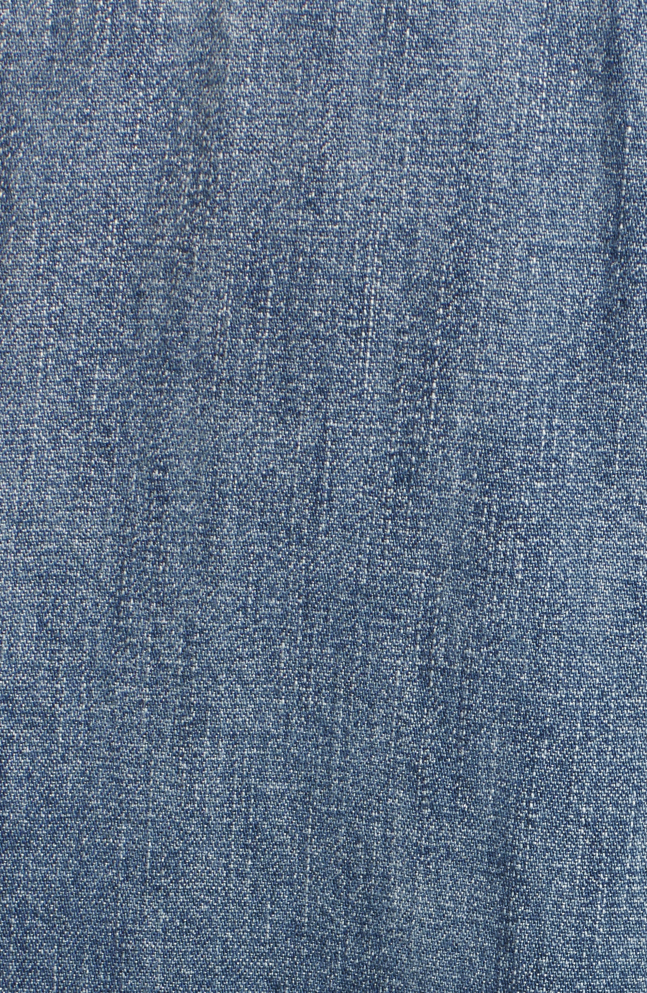 The Trista Denim Top,                             Alternate thumbnail 5, color,                             Blue Buff