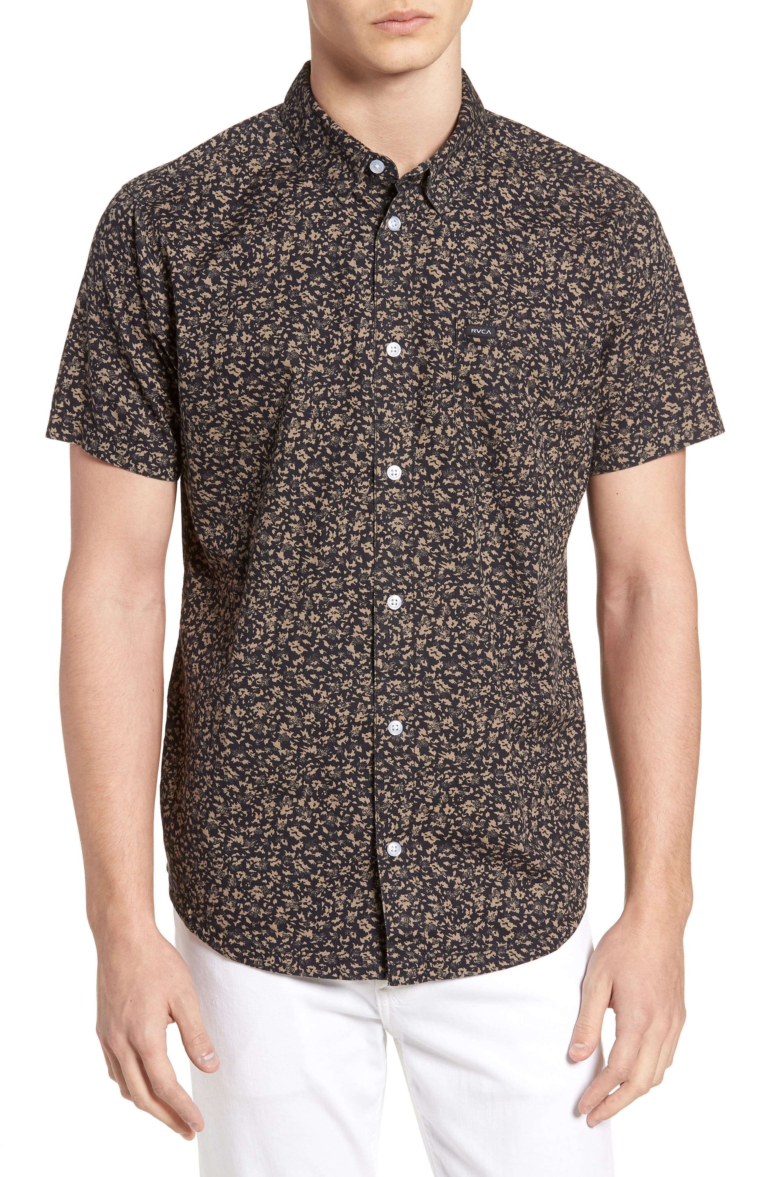 Dresden Woven Shirt,                             Main thumbnail 1, color,                             Pirate Black