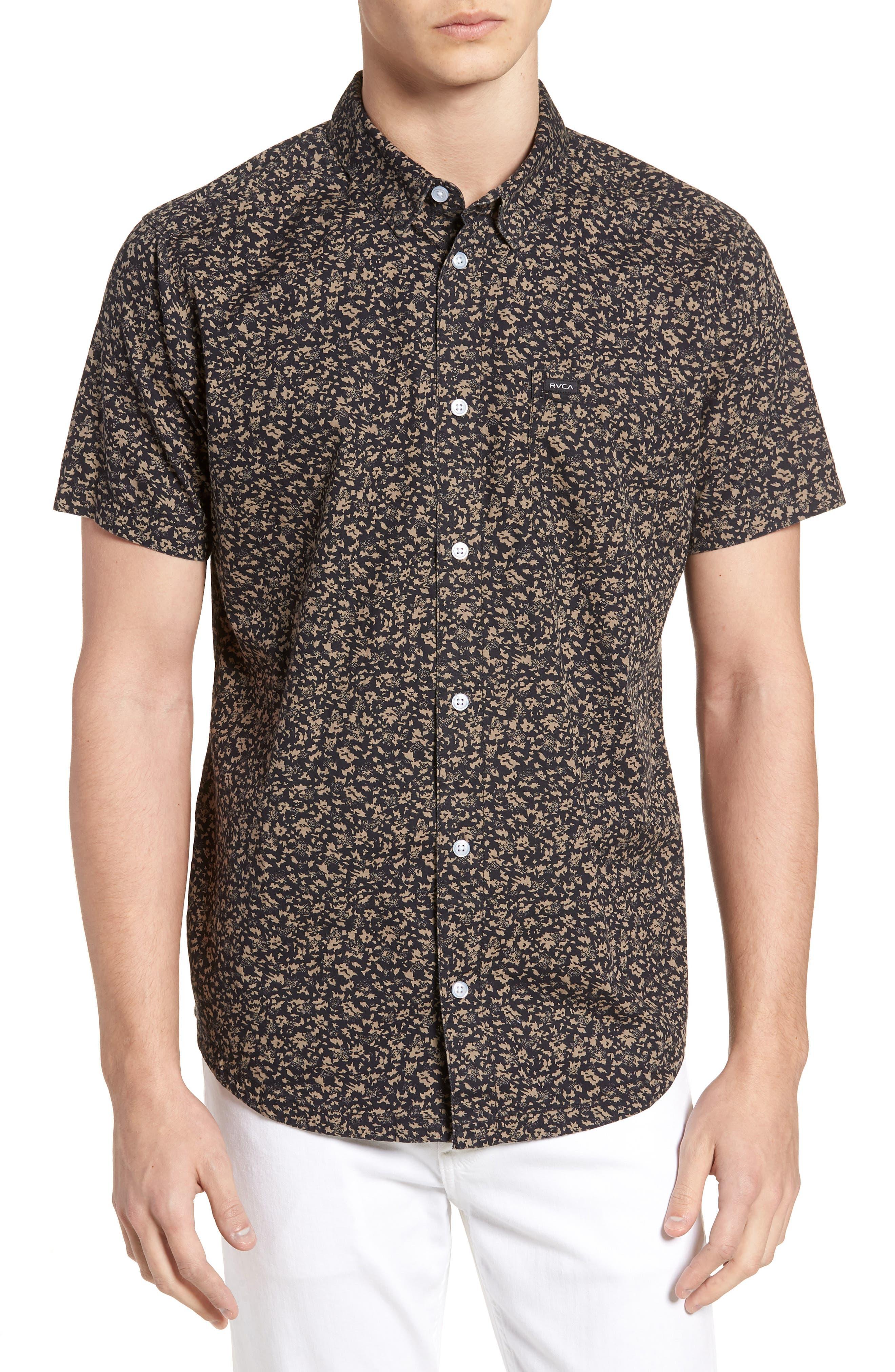 Dresden Woven Shirt,                         Main,                         color, Pirate Black