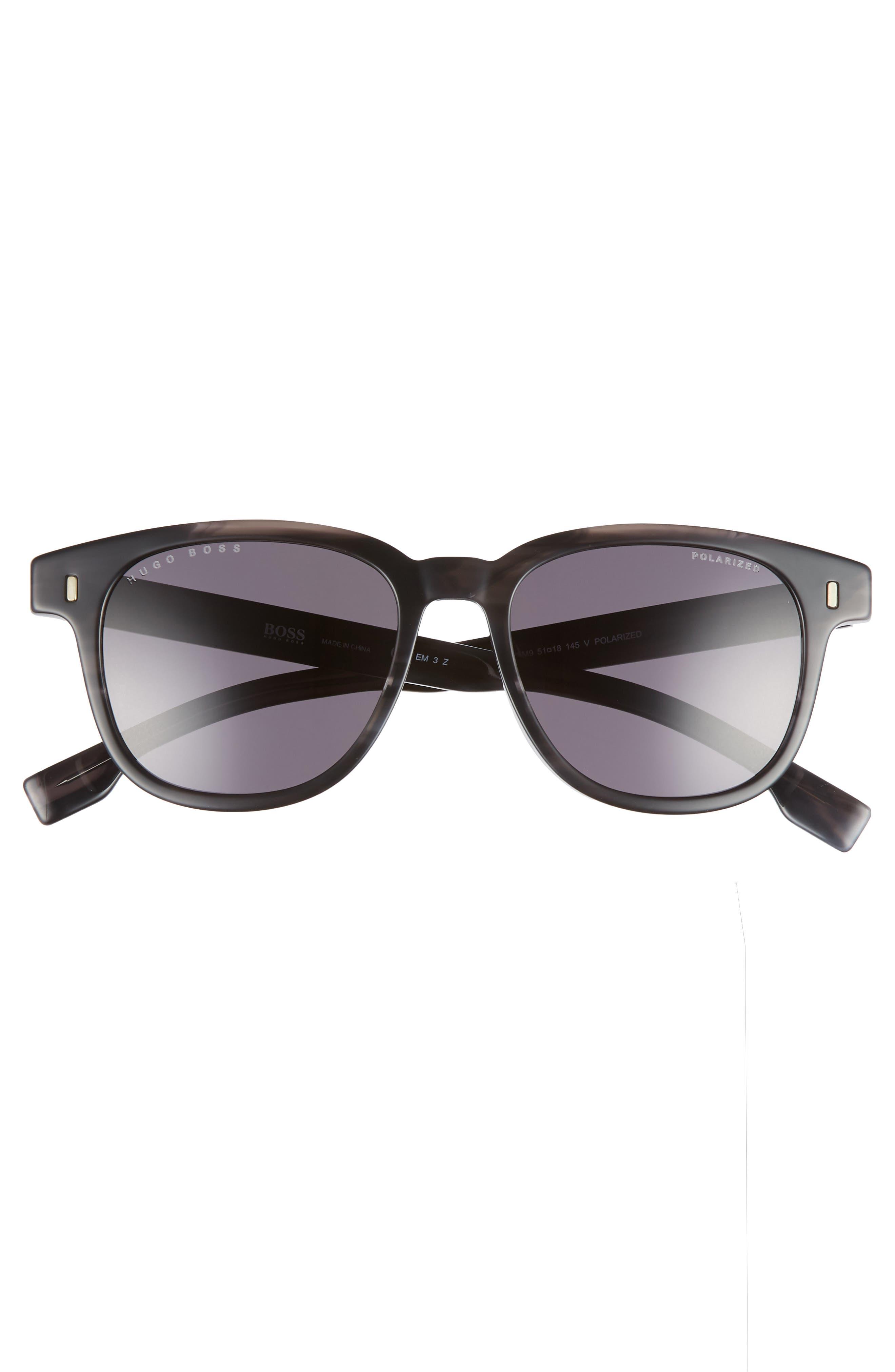 Core 51mm Polarized Sunglasses,                             Alternate thumbnail 2, color,                             Grey Horn/ Polar
