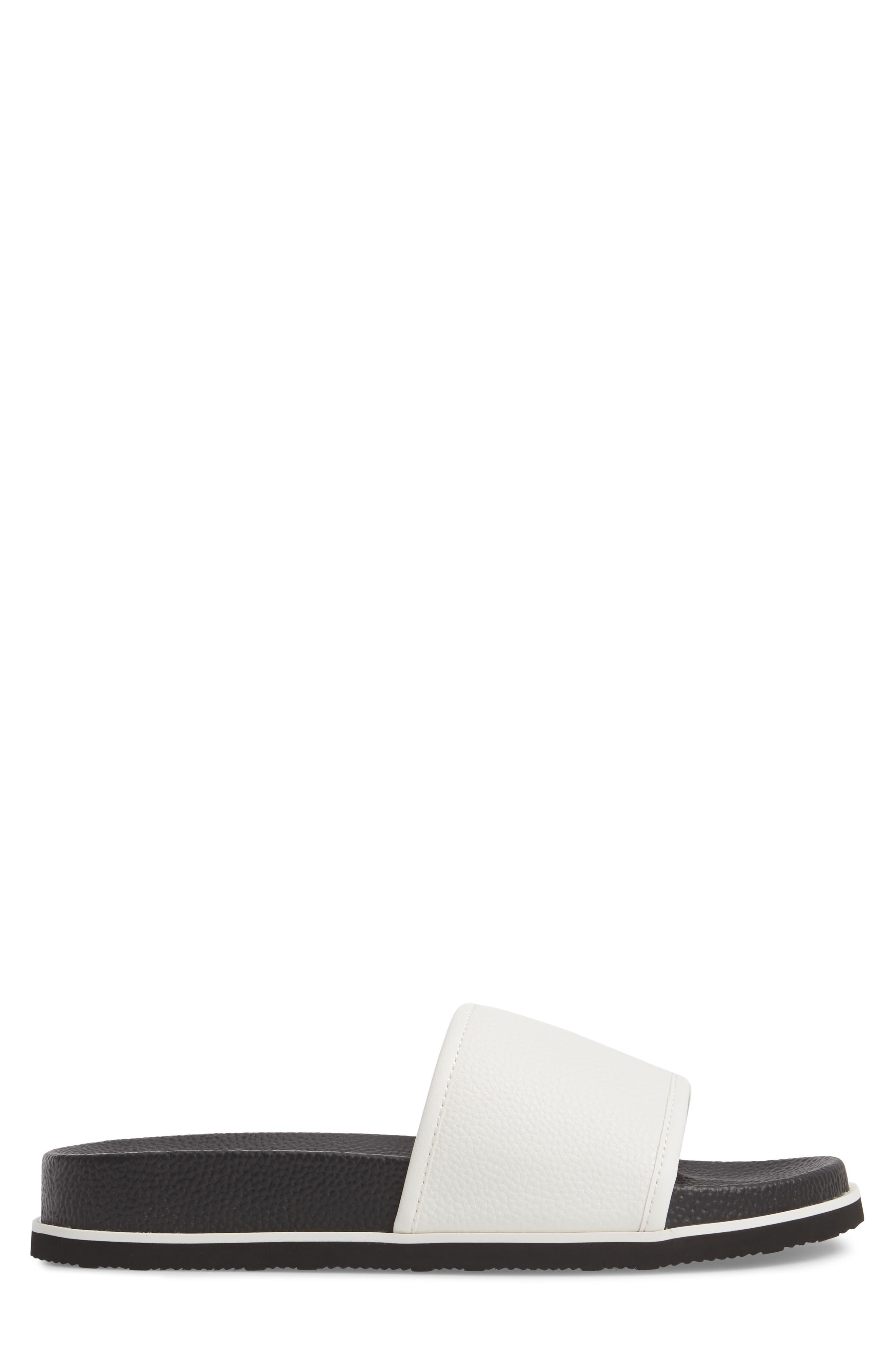 Mackee Sport Slide,                             Alternate thumbnail 3, color,                             White Leather