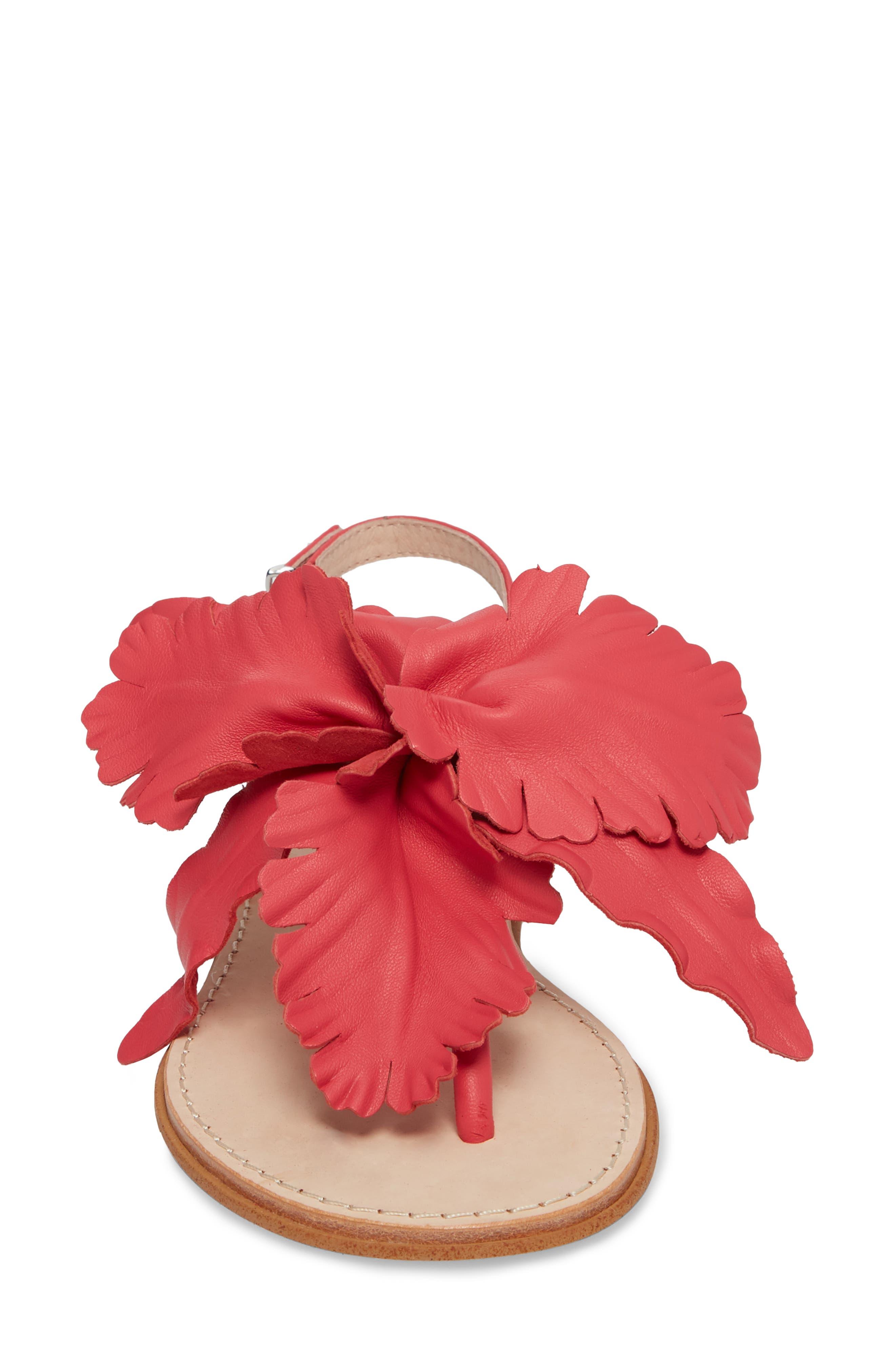 Peony Sandal,                             Alternate thumbnail 4, color,                             Fuchsia Leather