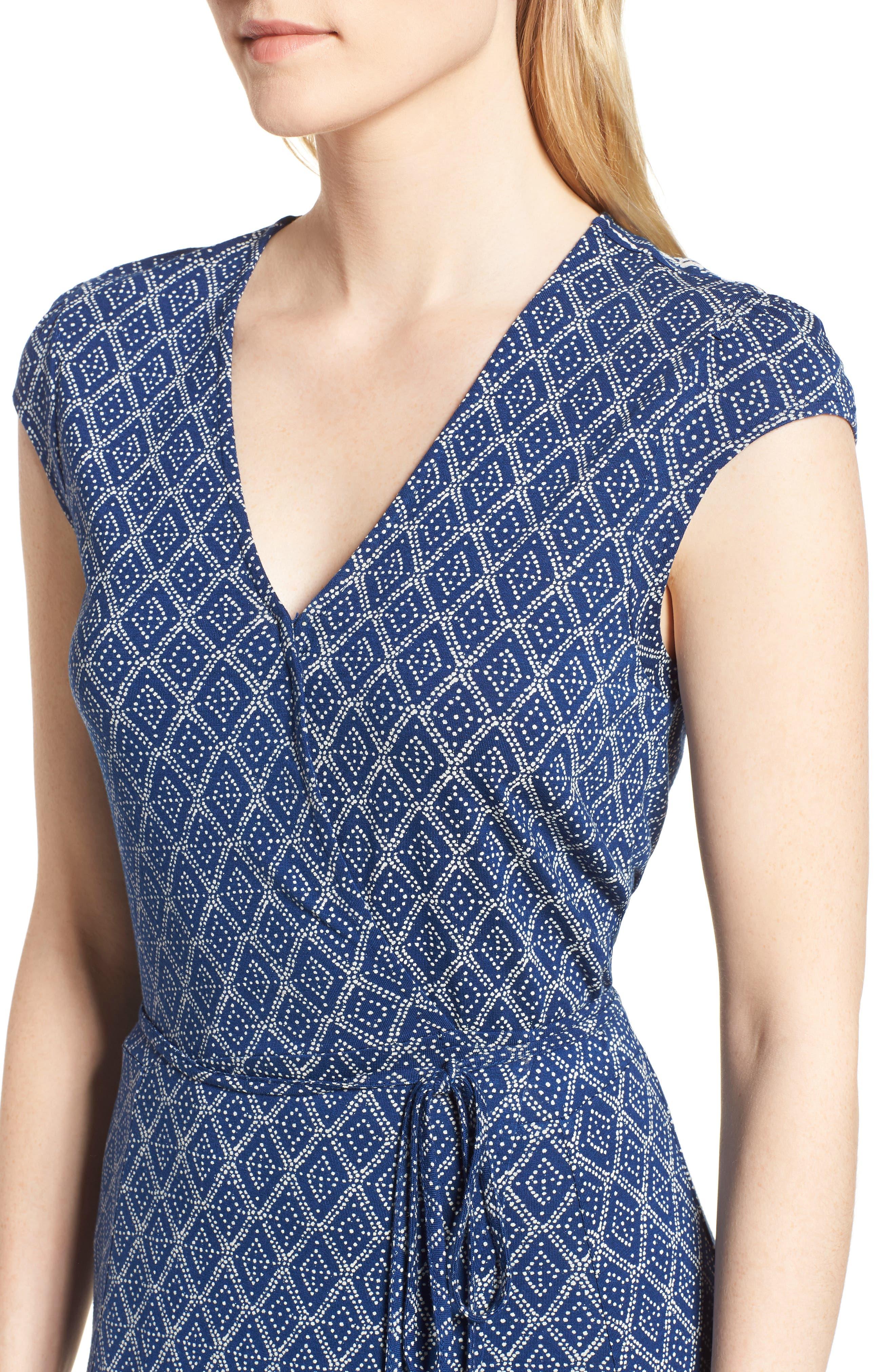 Lucky Border Print Maxi Dress,                             Alternate thumbnail 4, color,                             Multi