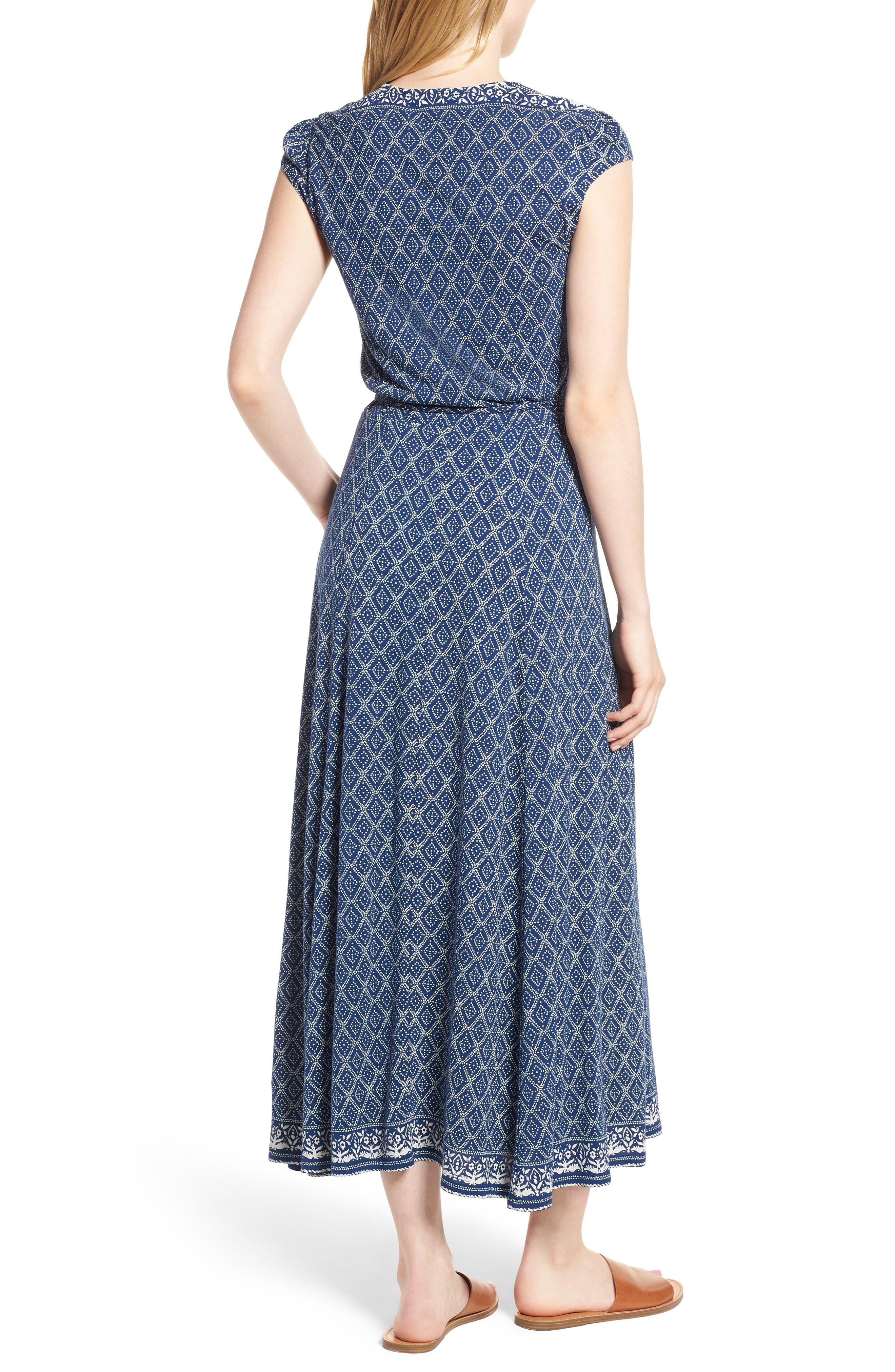 Lucky Border Print Maxi Dress,                             Alternate thumbnail 2, color,                             Multi