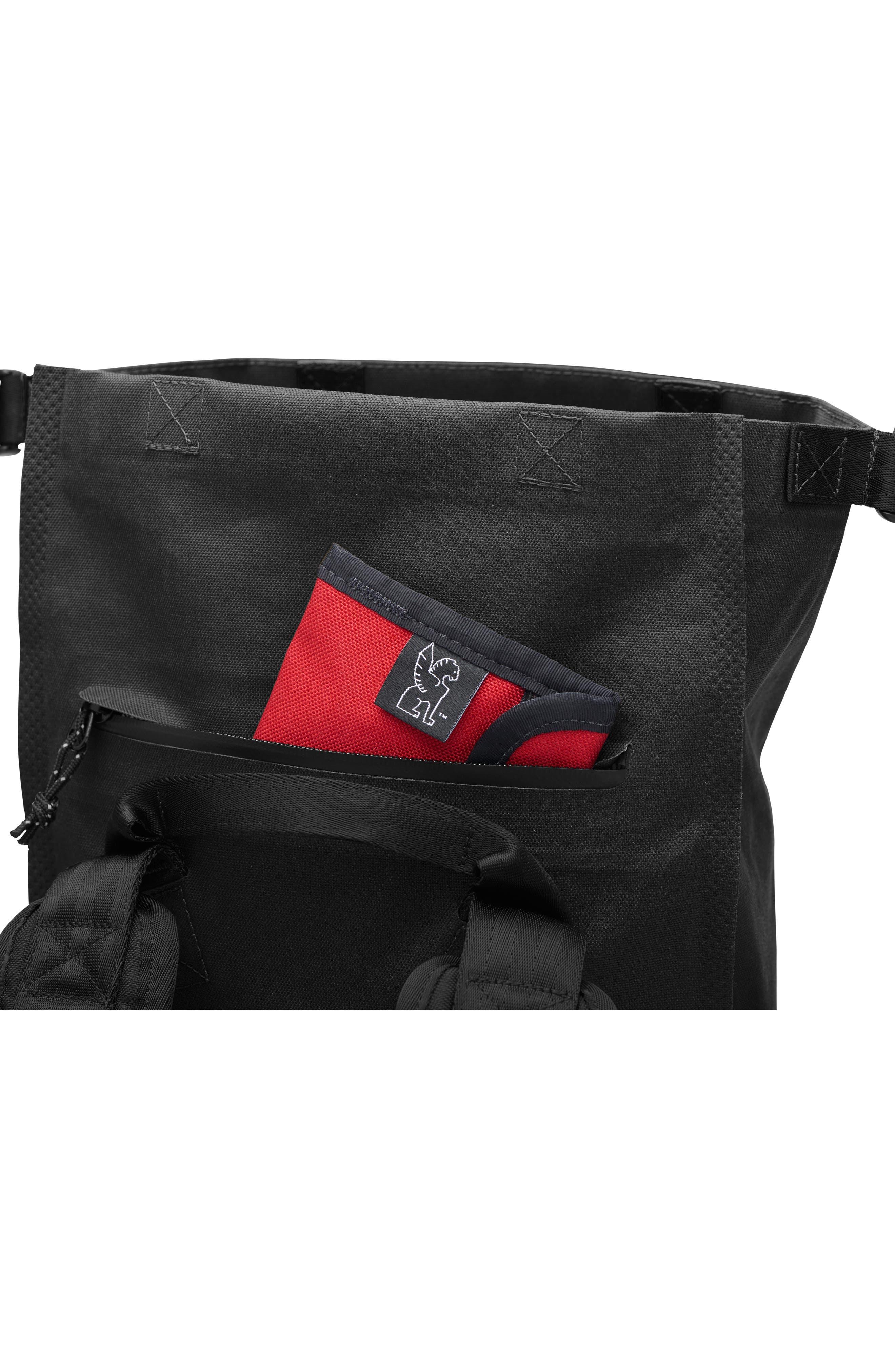 Urban Ex Rolltop Waterproof Backpack,                             Alternate thumbnail 5, color,                             Black/ Black