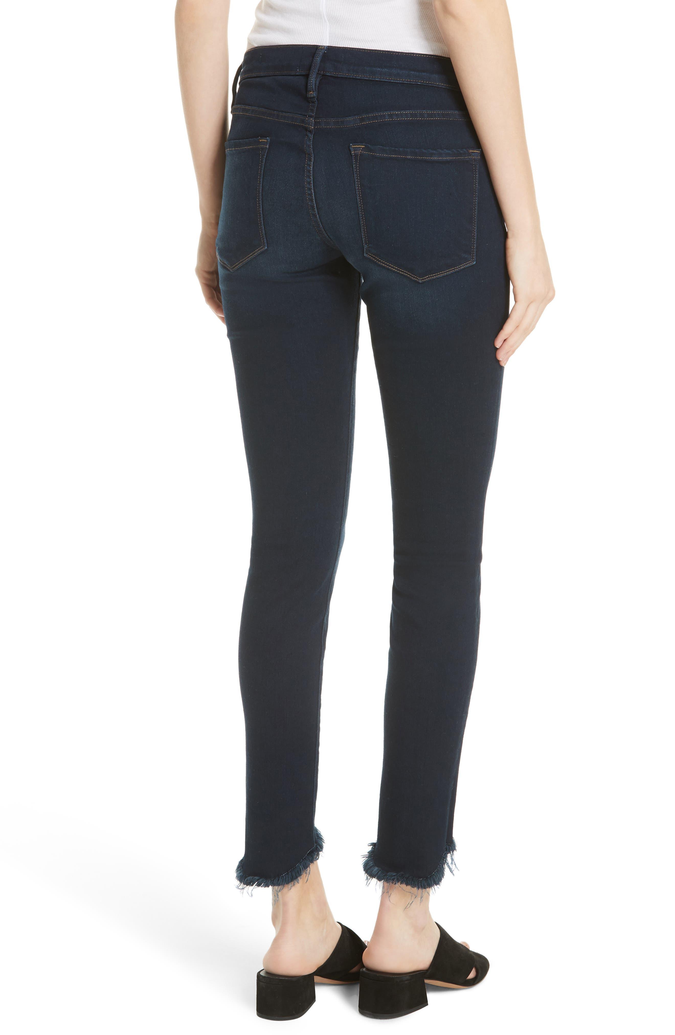 Le Skinny de Jeanne Sweetheart Hem Jeans,                             Alternate thumbnail 2, color,                             Longstreet