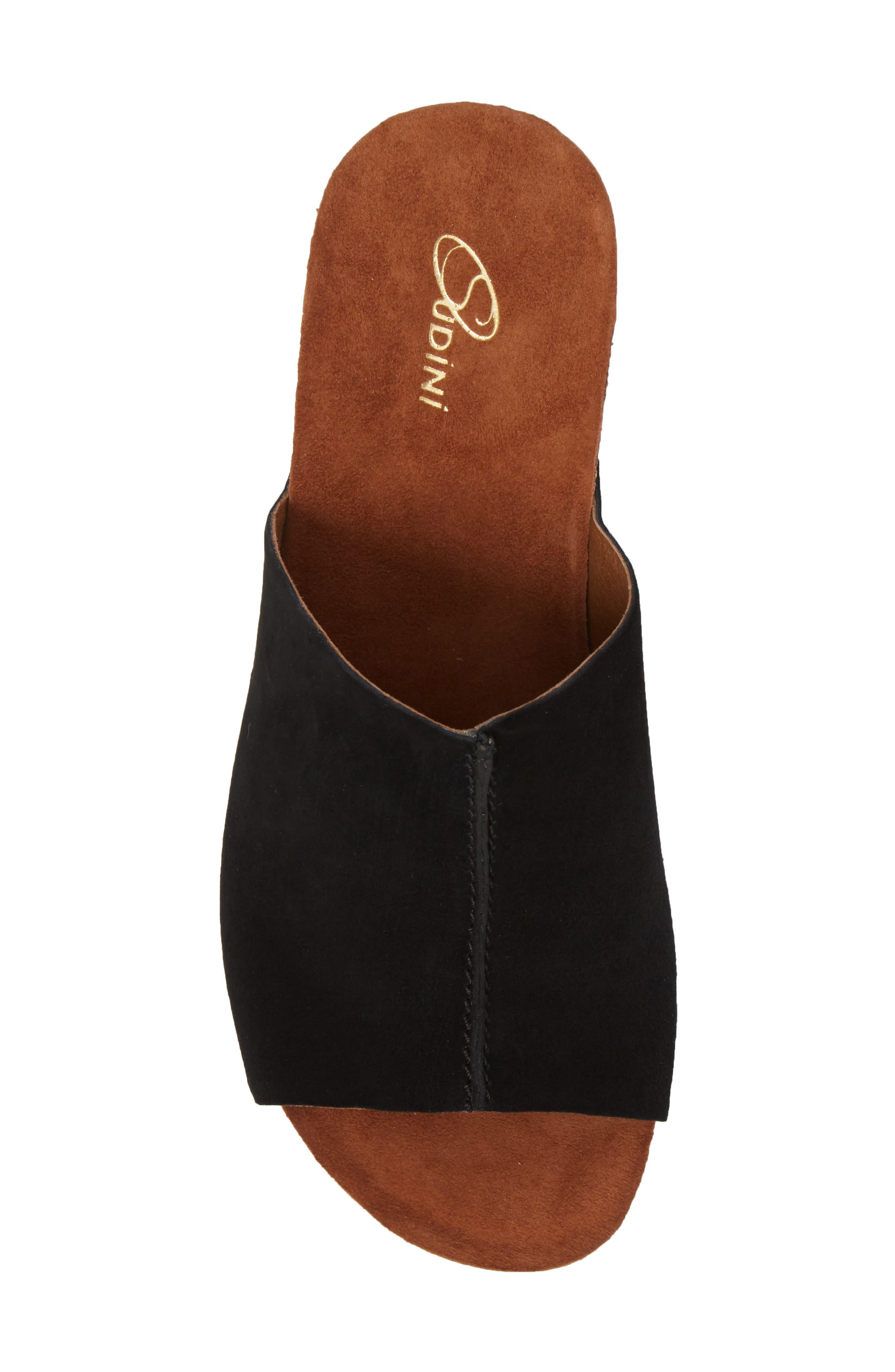 Pavia Wedge Mule,                             Alternate thumbnail 5, color,                             Black Leather