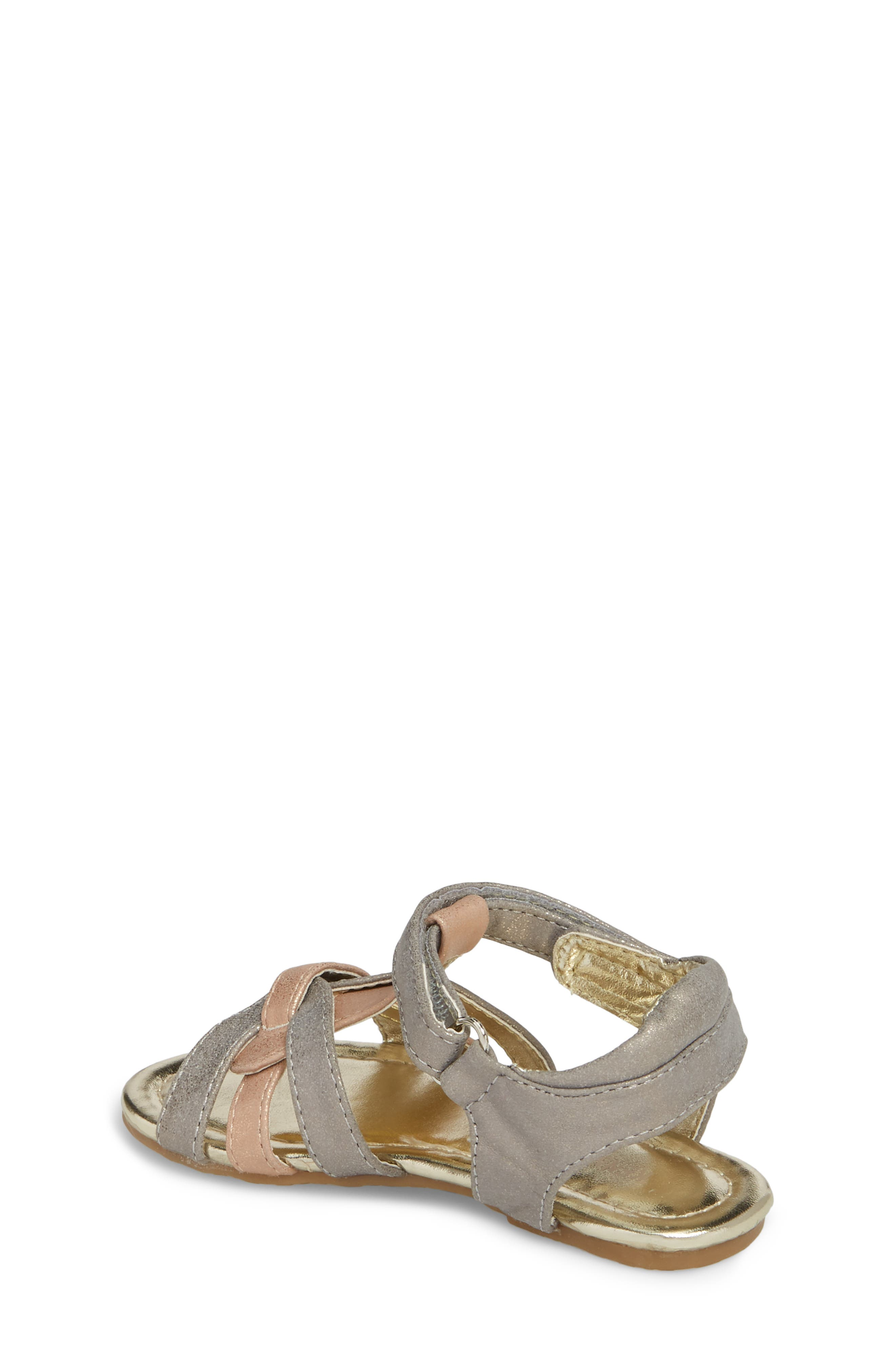 Echo Strappy Sandal,                             Alternate thumbnail 2, color,                             Rose Metallic