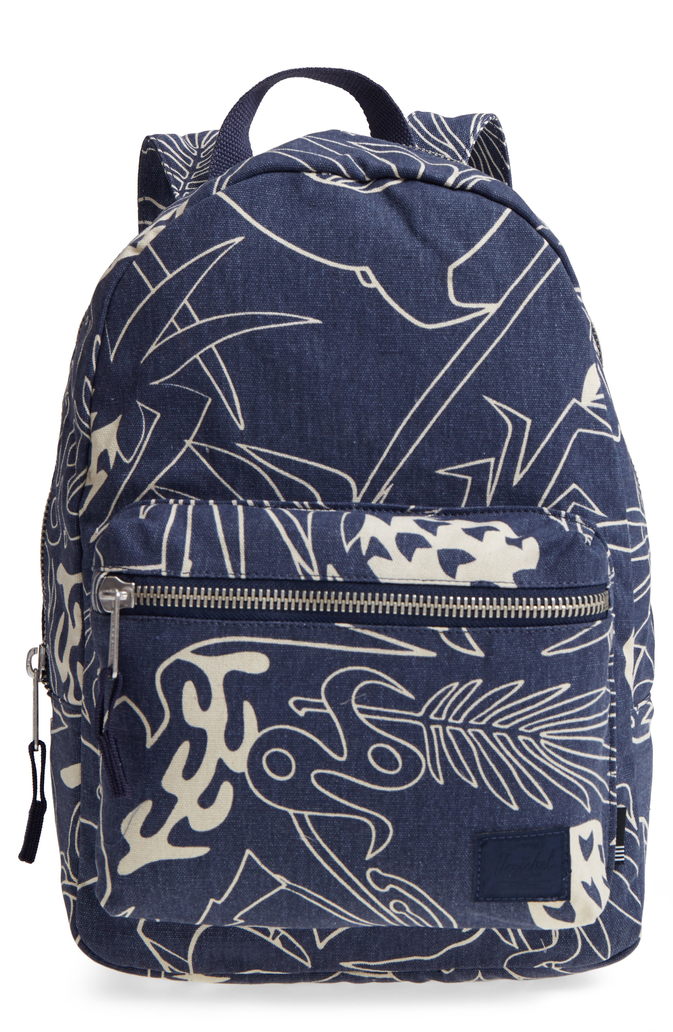 Herschel Supply Co. X-Small Grove Cotton Canvas Backpack - Blue In ... 09eecd15cfa30
