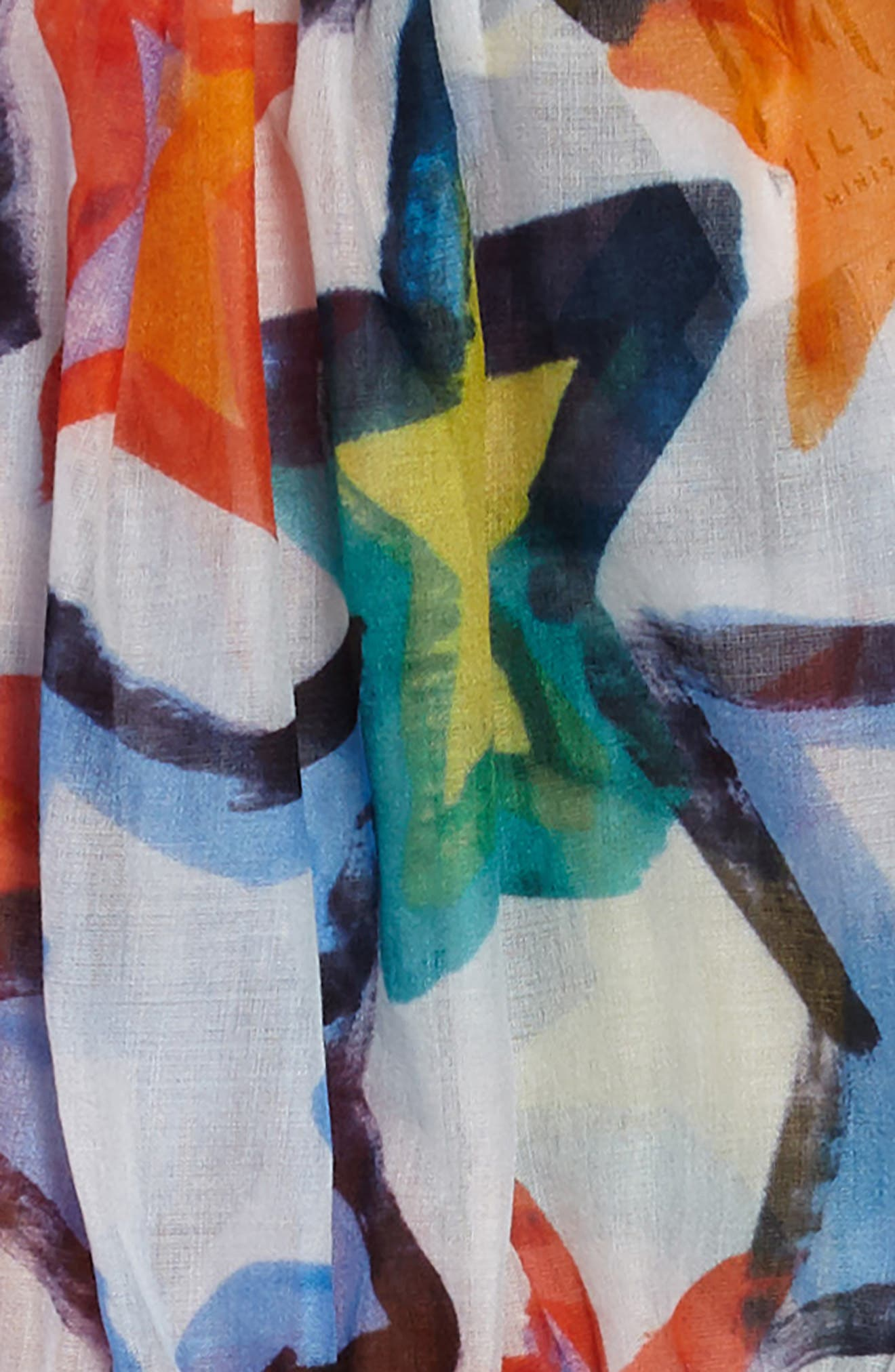 Tiered Dress,                             Alternate thumbnail 3, color,                             White Multi