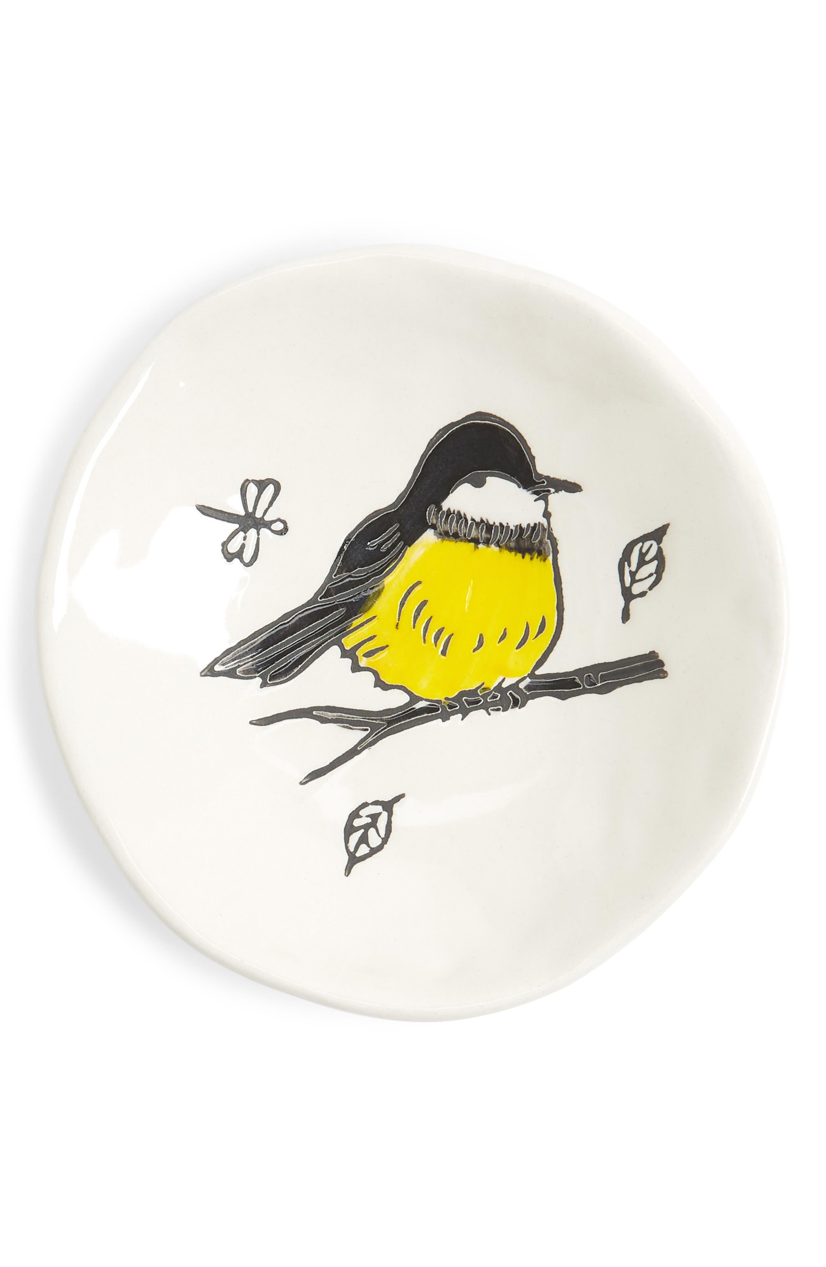 Small Bird Plate,                         Main,                         color, White