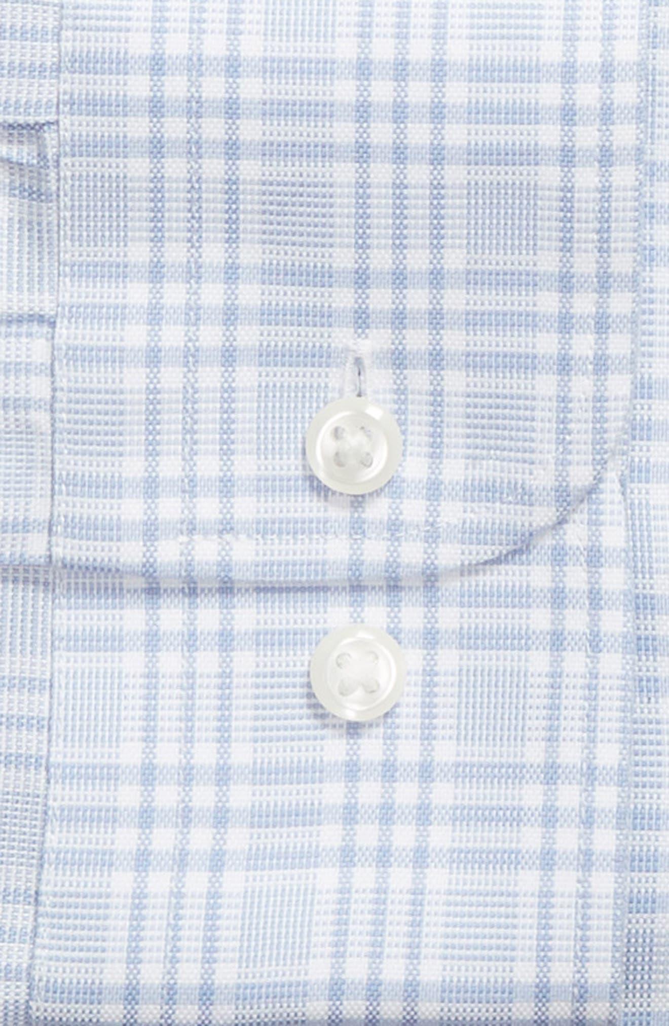 Smartcare<sup>™</sup> Classic Fit Plaid Dress Shirt,                             Alternate thumbnail 5, color,                             Blue Brunnera
