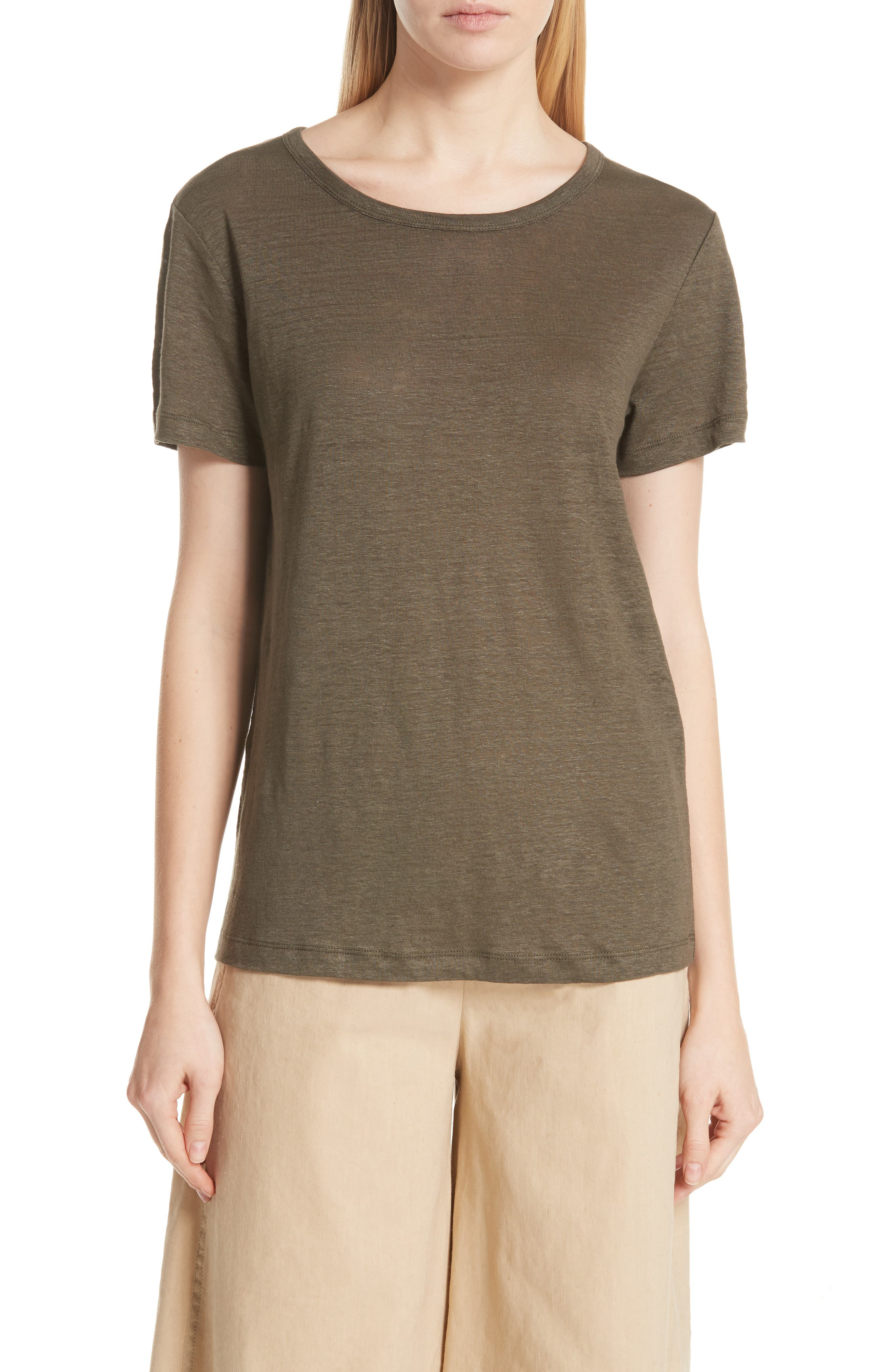 Main Image - Vince Linen Short Sleeve Top