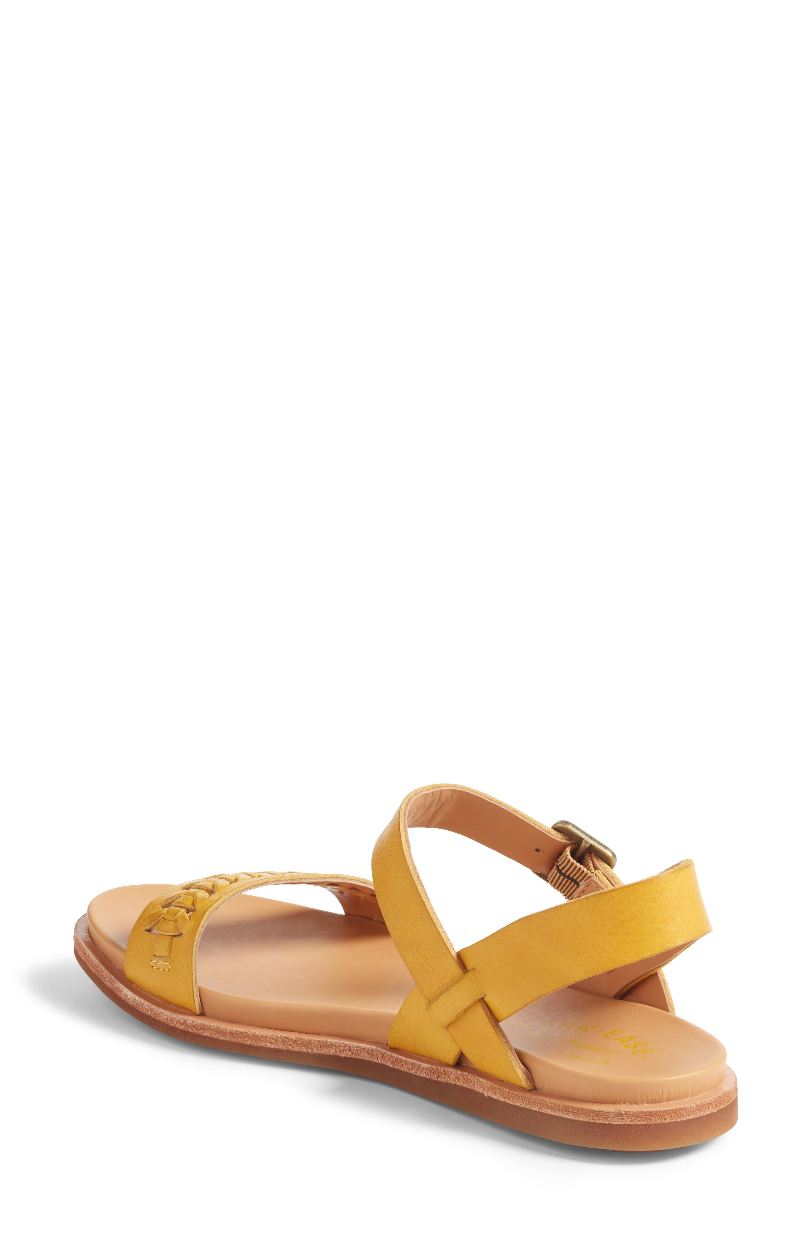 Yucca Braid Sandal,                             Alternate thumbnail 2, color,                             Yellow Leather