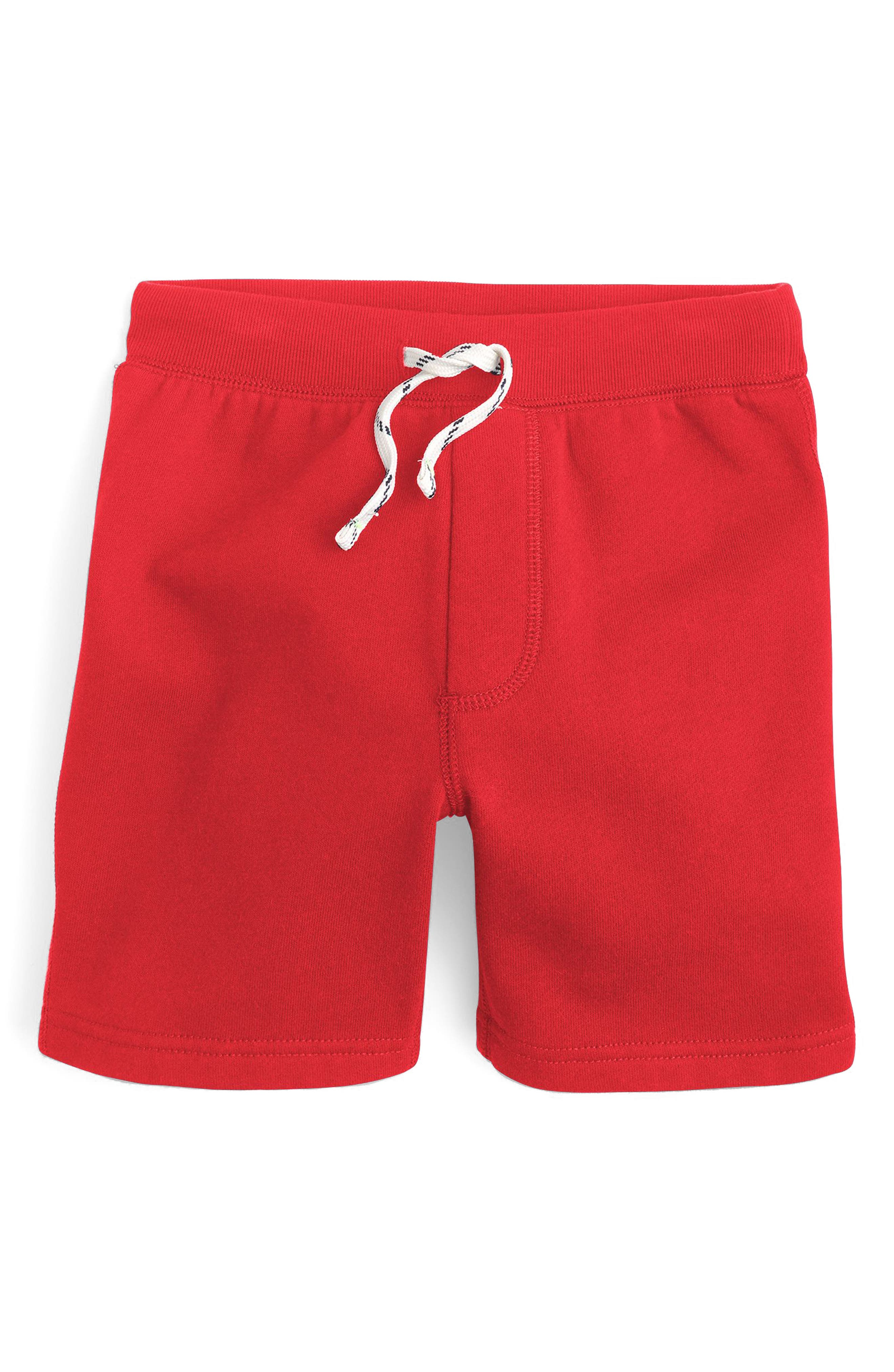 Classic Sweat Shorts,                             Main thumbnail 1, color,                             Milan Red