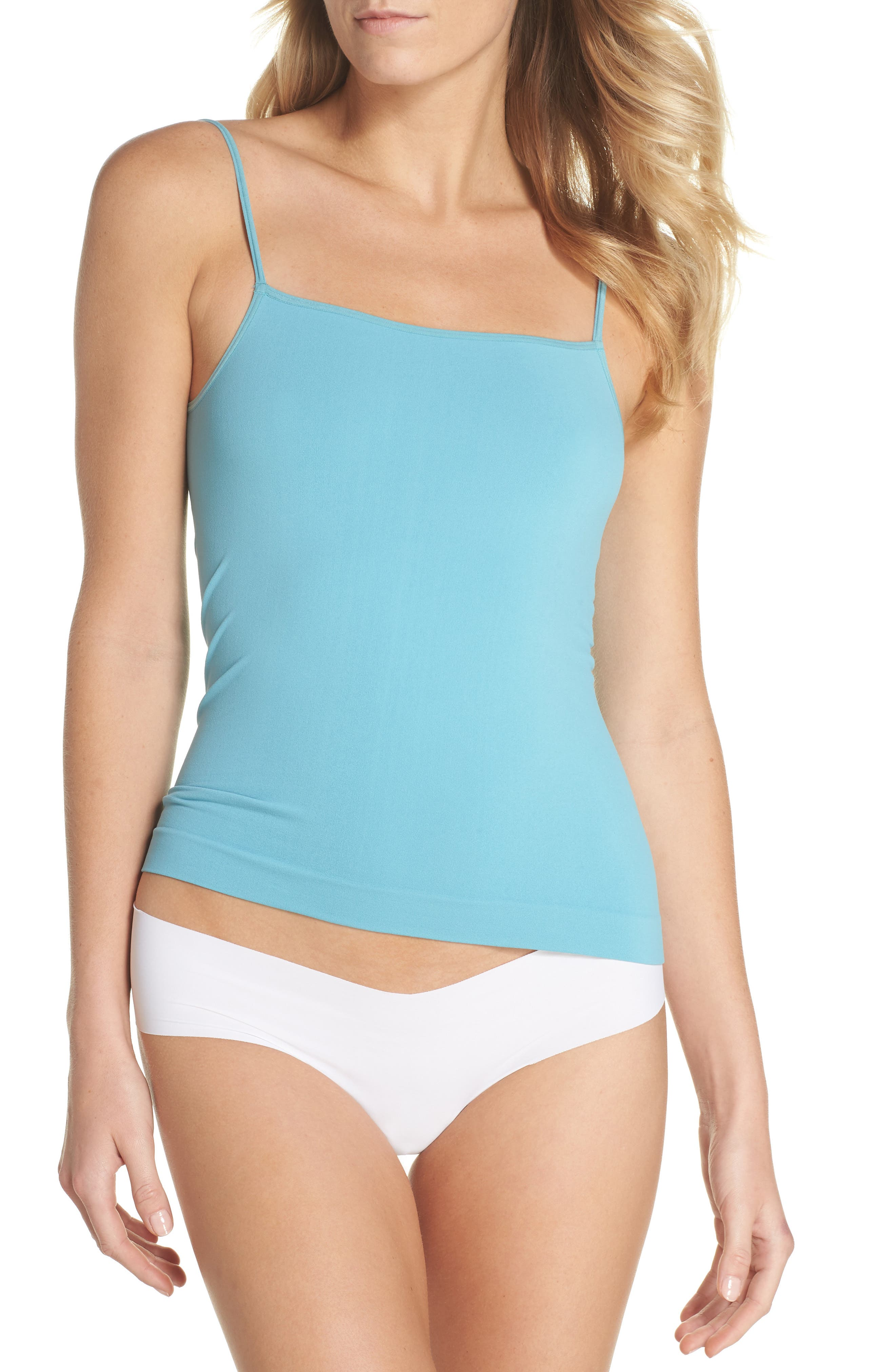 Seamless Two-Way Camisole,                             Alternate thumbnail 4, color,                             Teal Sicily