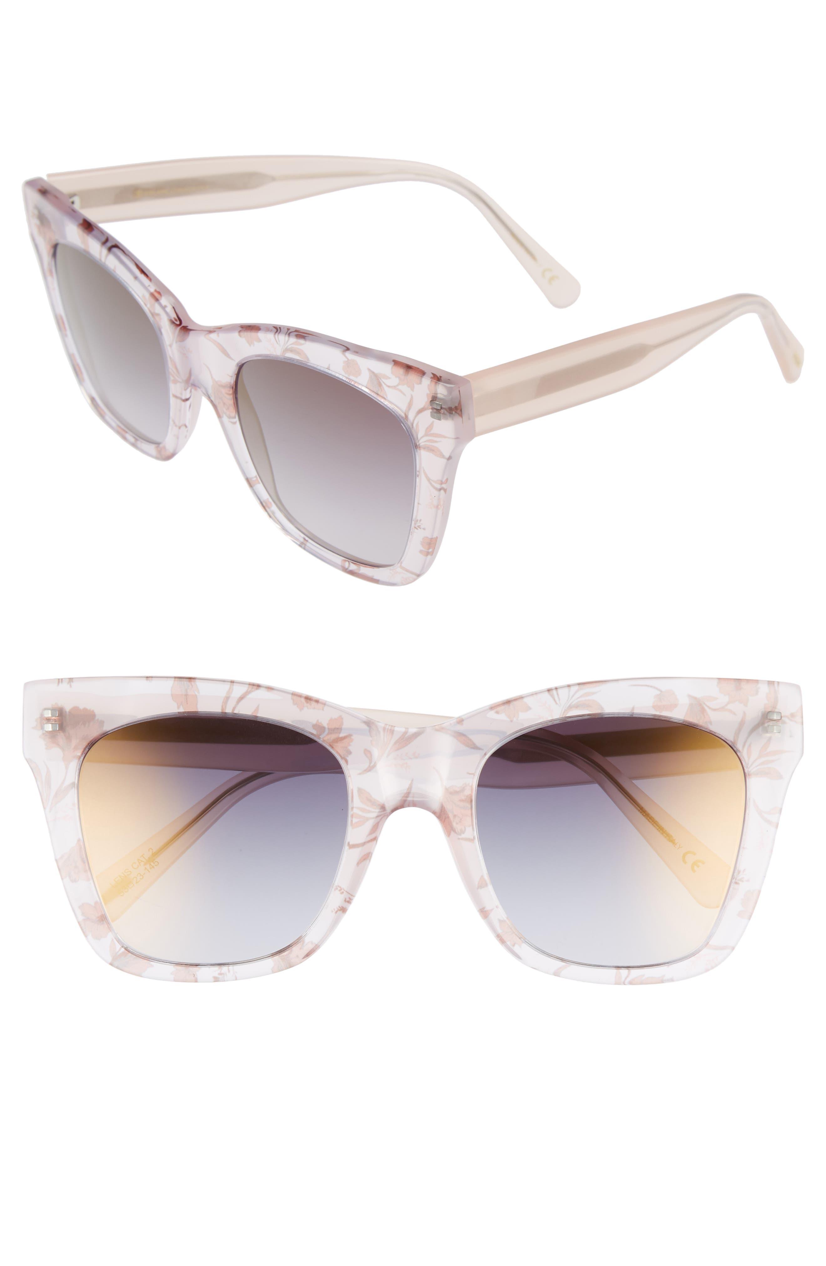 D'BLANC Beach Vida 52mm Sunglasses,                         Main,                         color, Something Nice