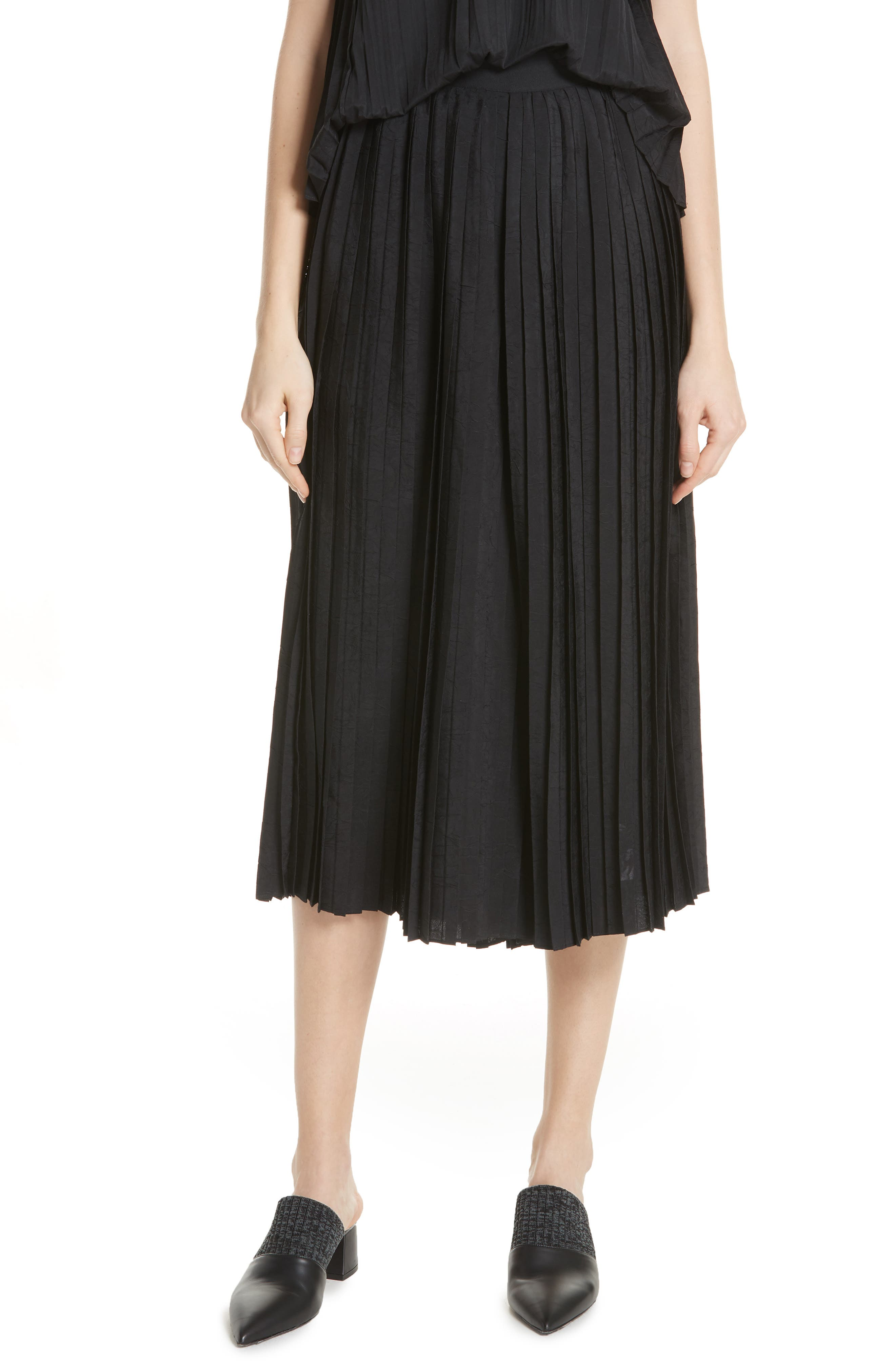Vince Accordion Pleat Culotte Pants