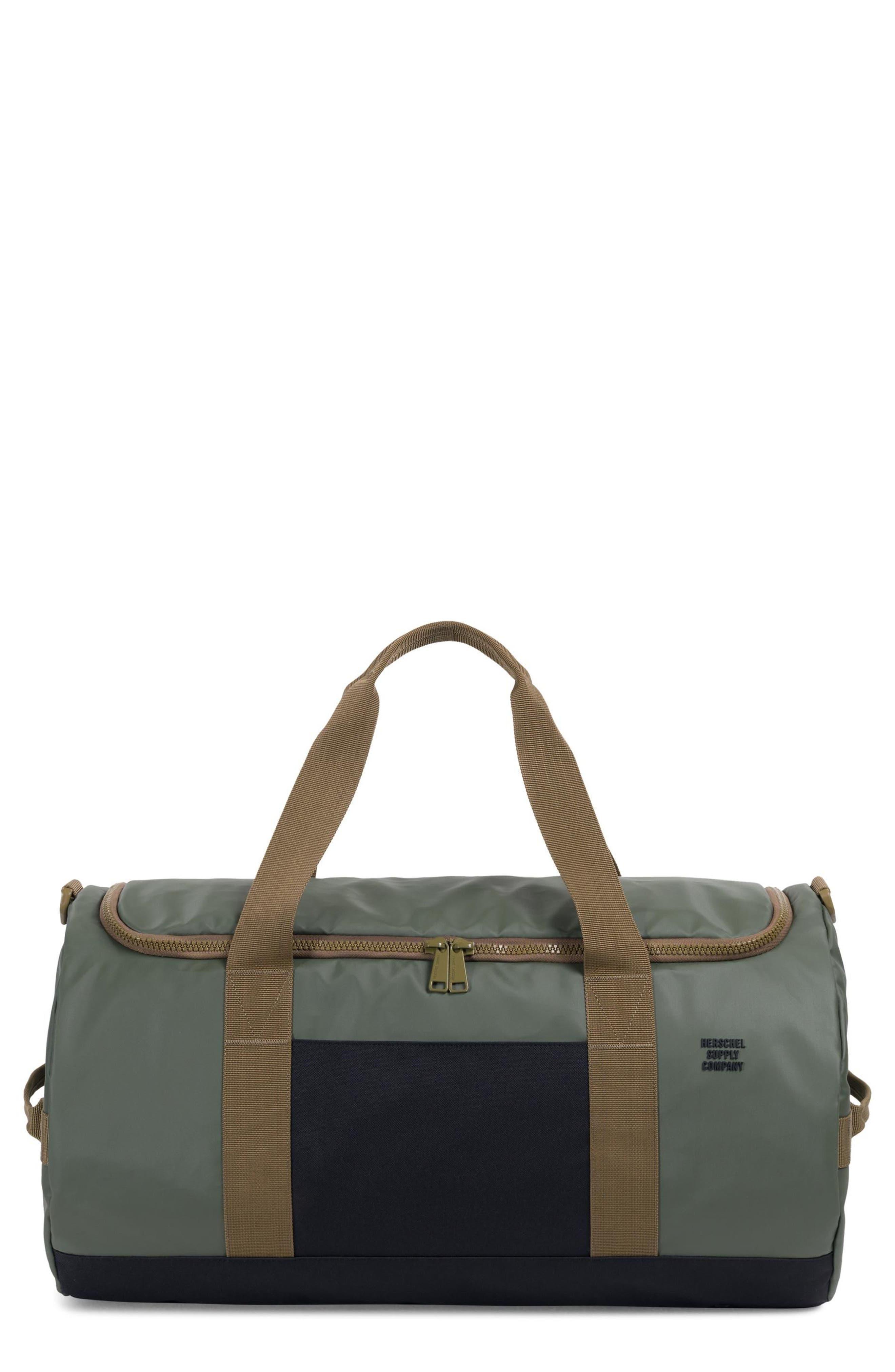 Sutton Polycoat Studio Duffel Bag,                             Main thumbnail 1, color,                             Beetle/Black/Gothic Olive