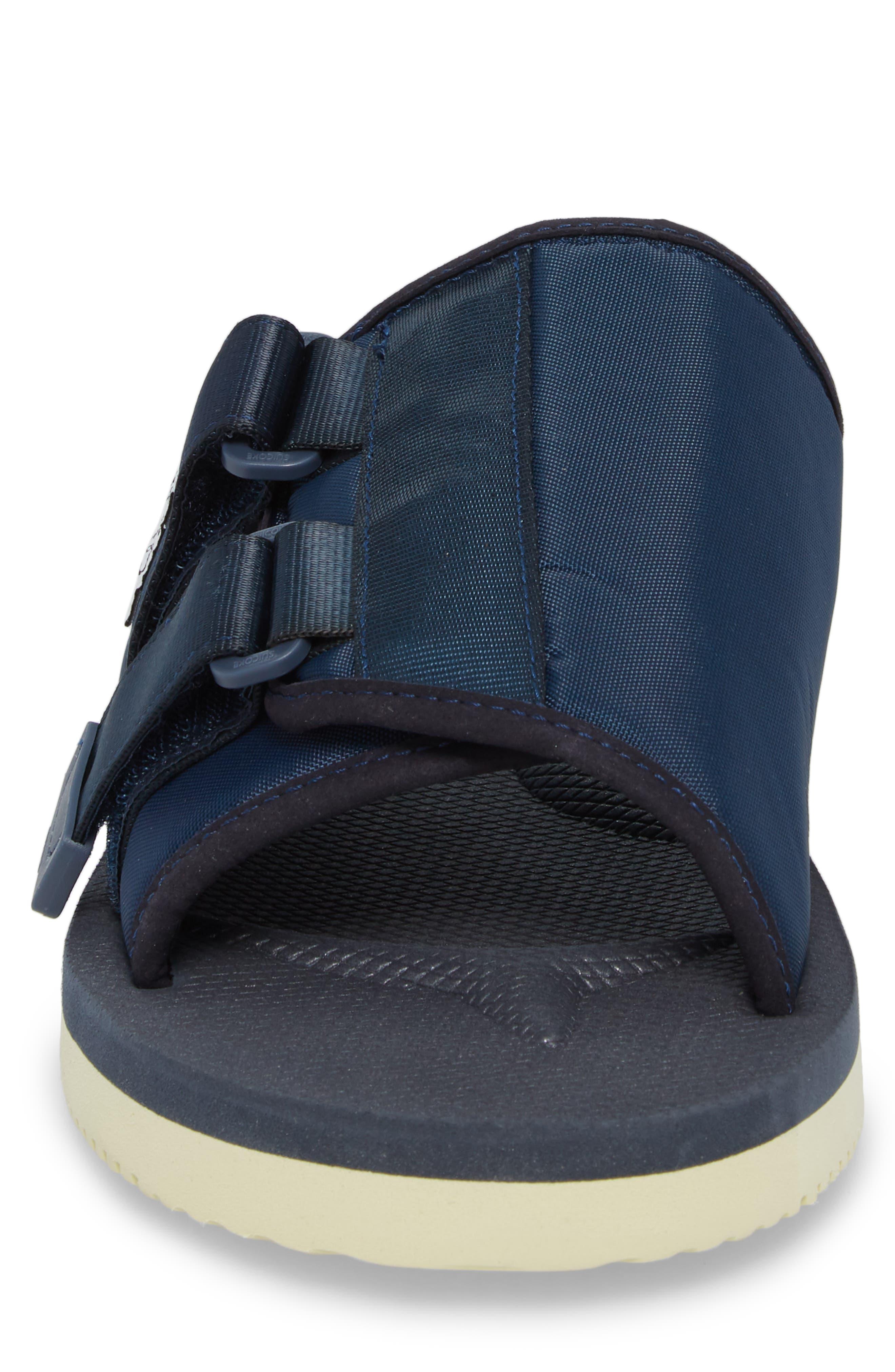 Kaw Cab Slide Sandal,                             Alternate thumbnail 4, color,                             Navy