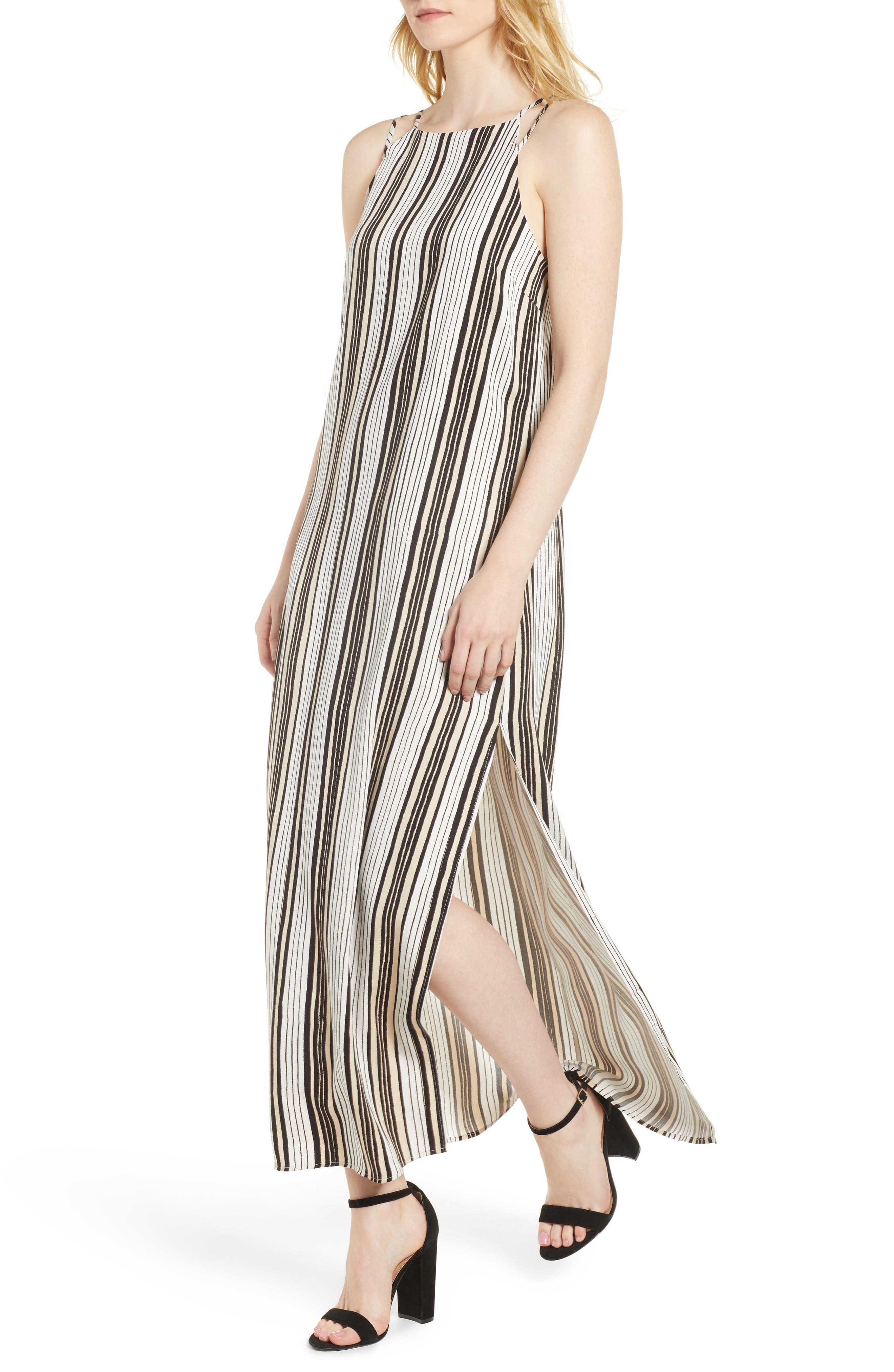Corin Stripe Maxi Dress,                             Main thumbnail 1, color,                             Ivory