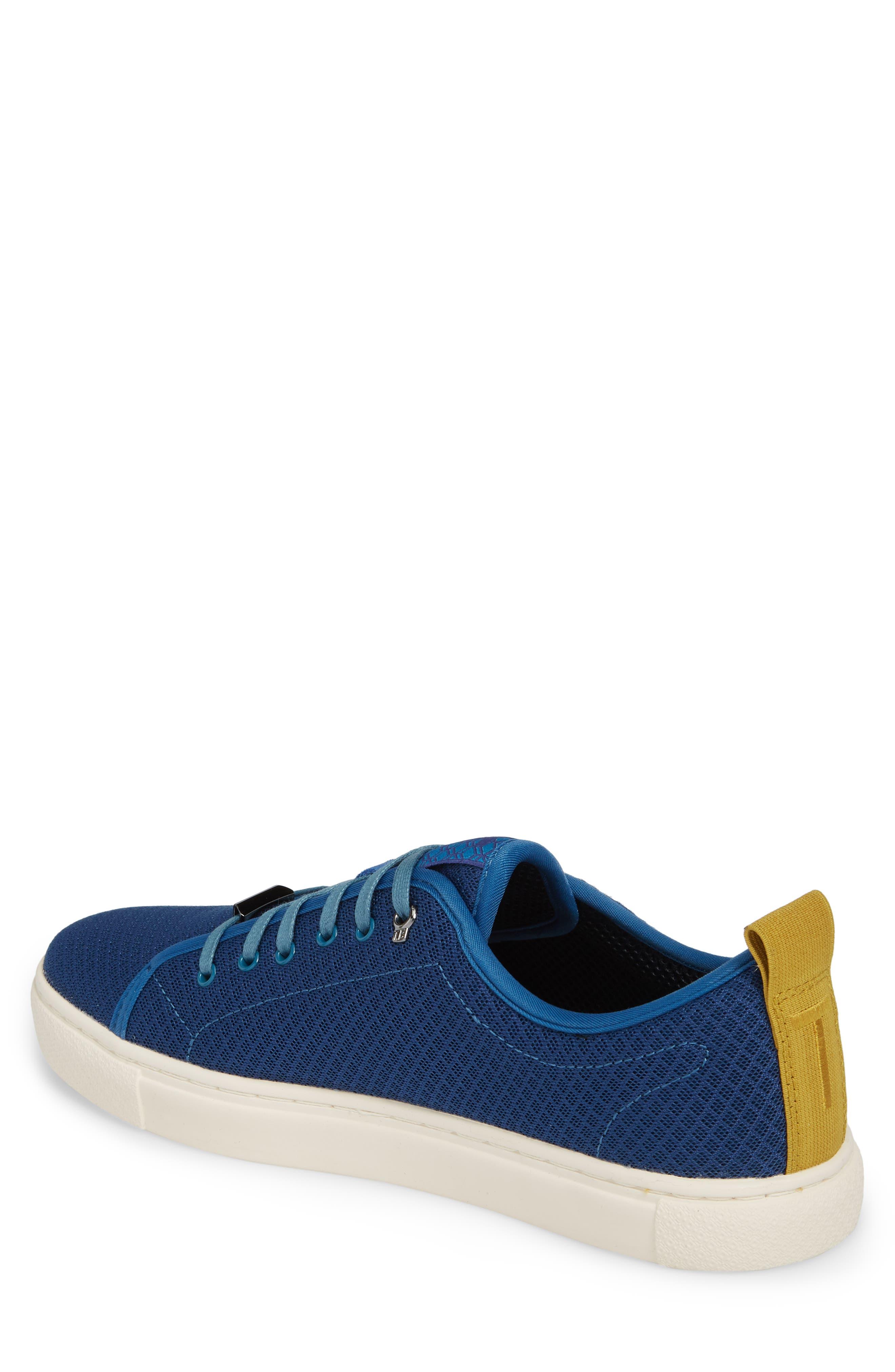 Lannse Low Top Mesh Sneaker,                             Alternate thumbnail 2, color,                             Blue Textile