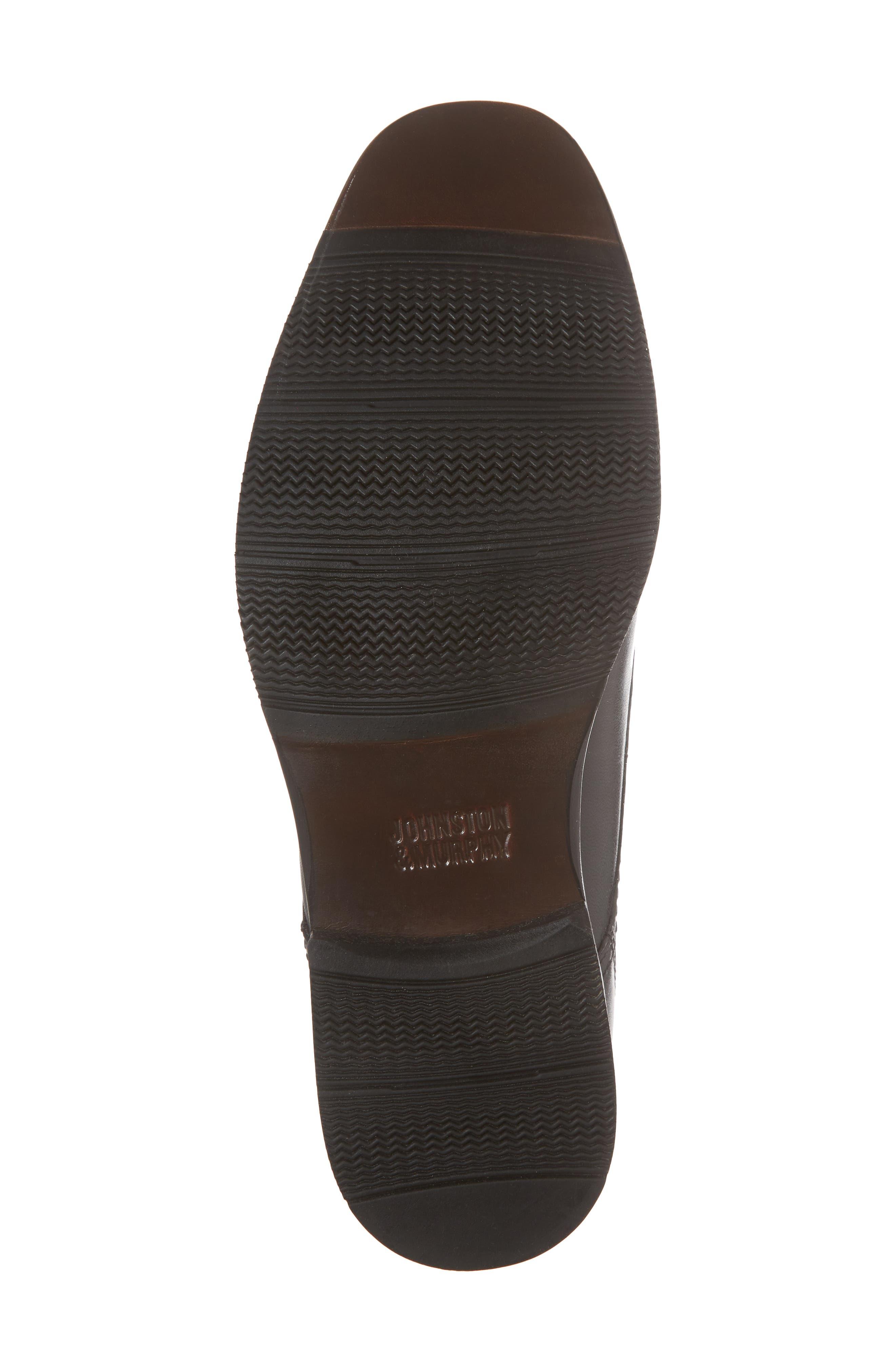 Bartlett Cap Toe Derby,                             Alternate thumbnail 6, color,                             Black Leather