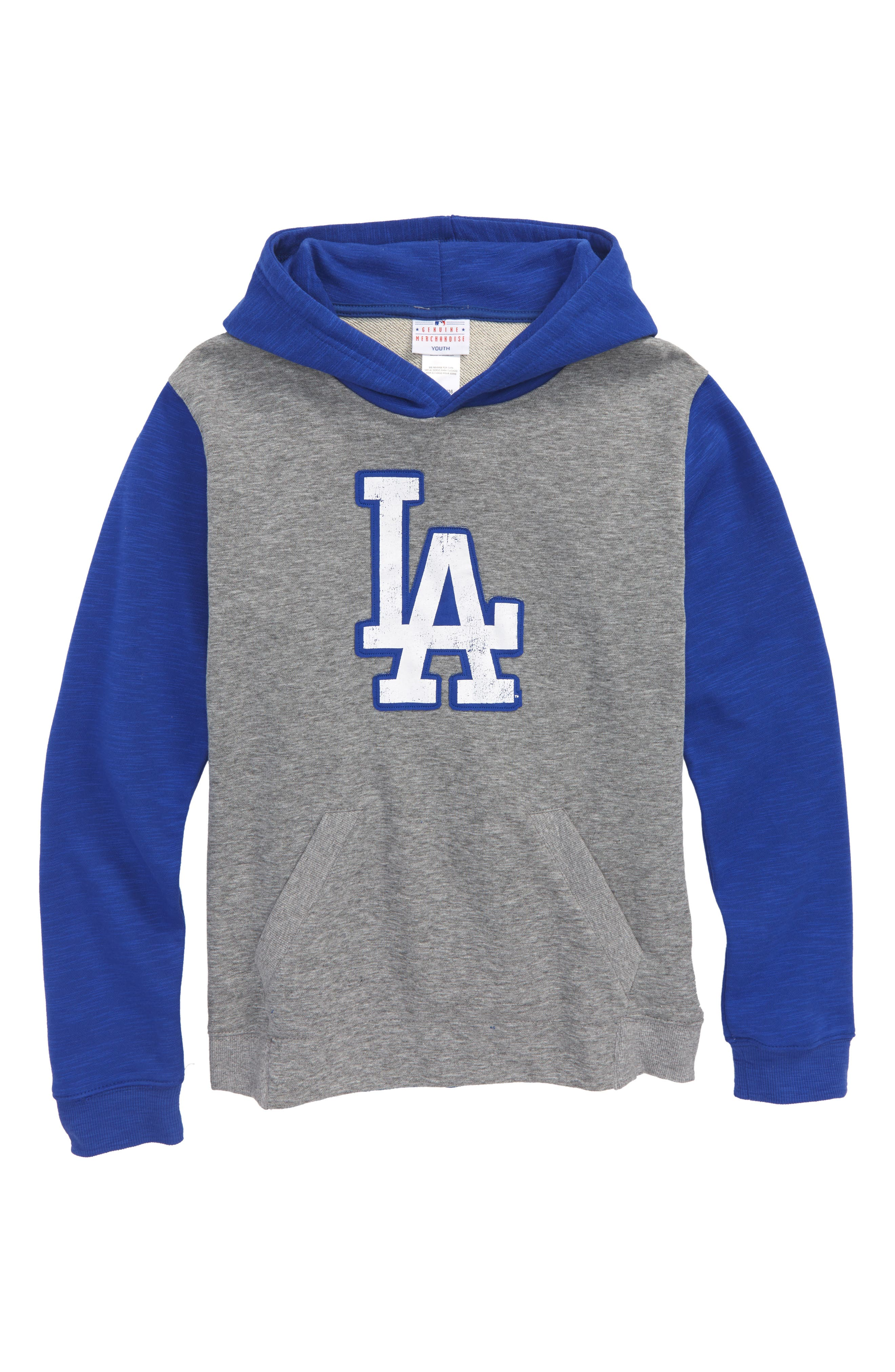 New Beginnings - Los Angeles Dodgers Pullover Hoodie,                             Main thumbnail 1, color,                             Gray