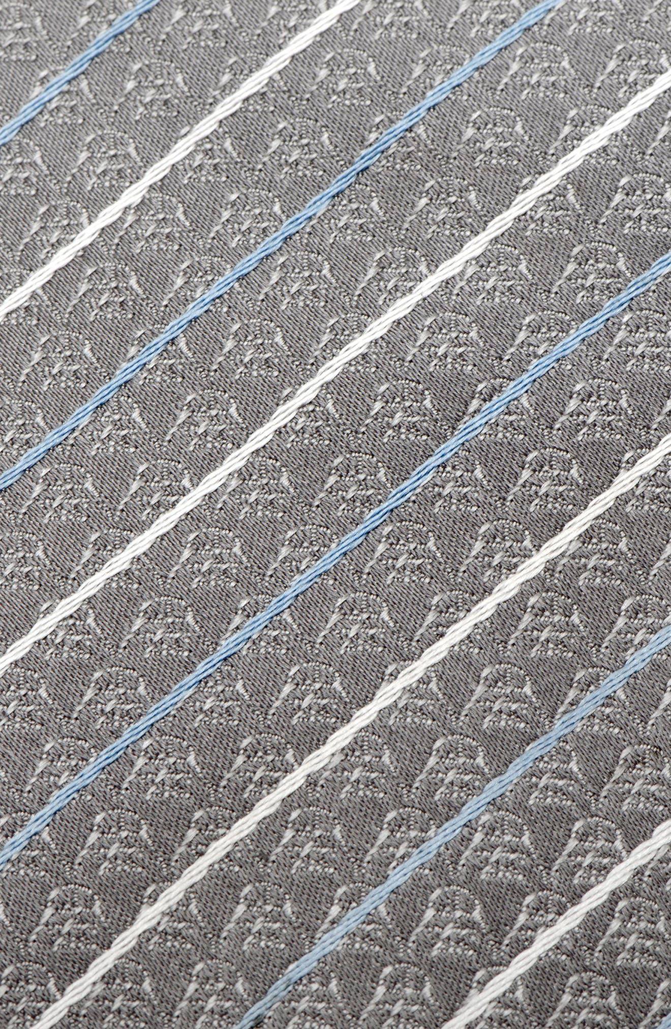 Darth Vader Stripe Silk Tie,                             Alternate thumbnail 3, color,                             Grey