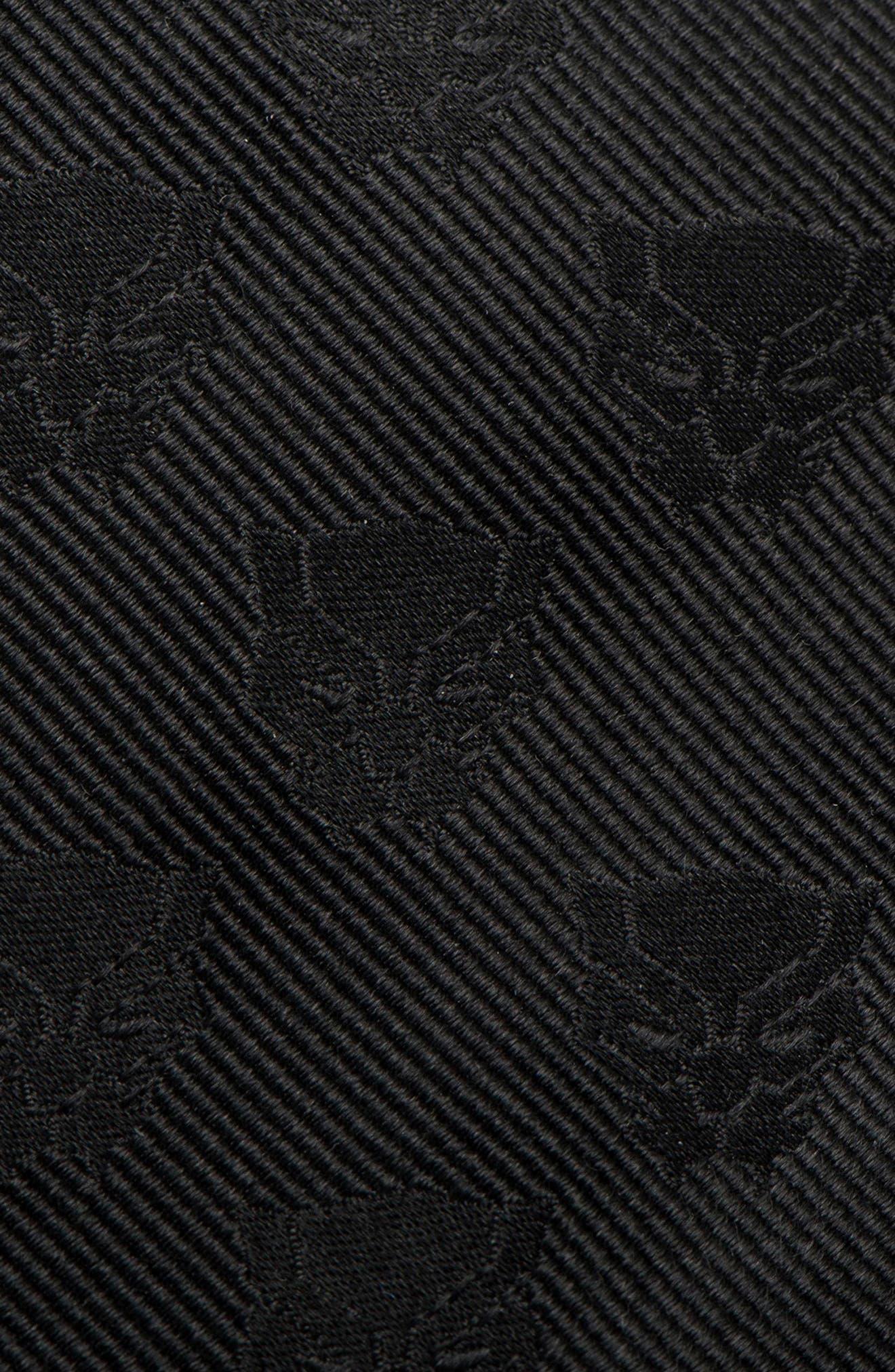 Black Panther Silk Tie,                             Alternate thumbnail 3, color,                             Black