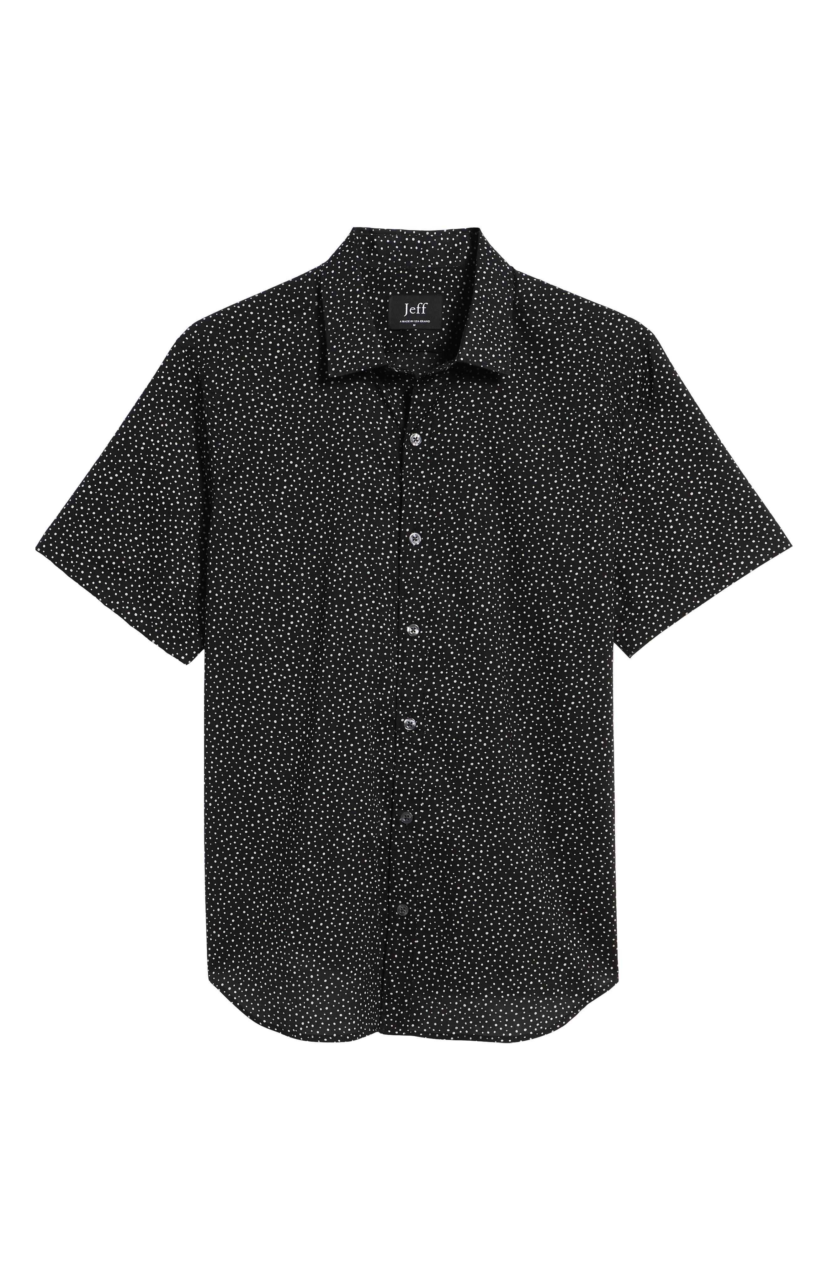 Tyler Novelty Trim Fit Sport Shirt,                             Alternate thumbnail 6, color,                             Black